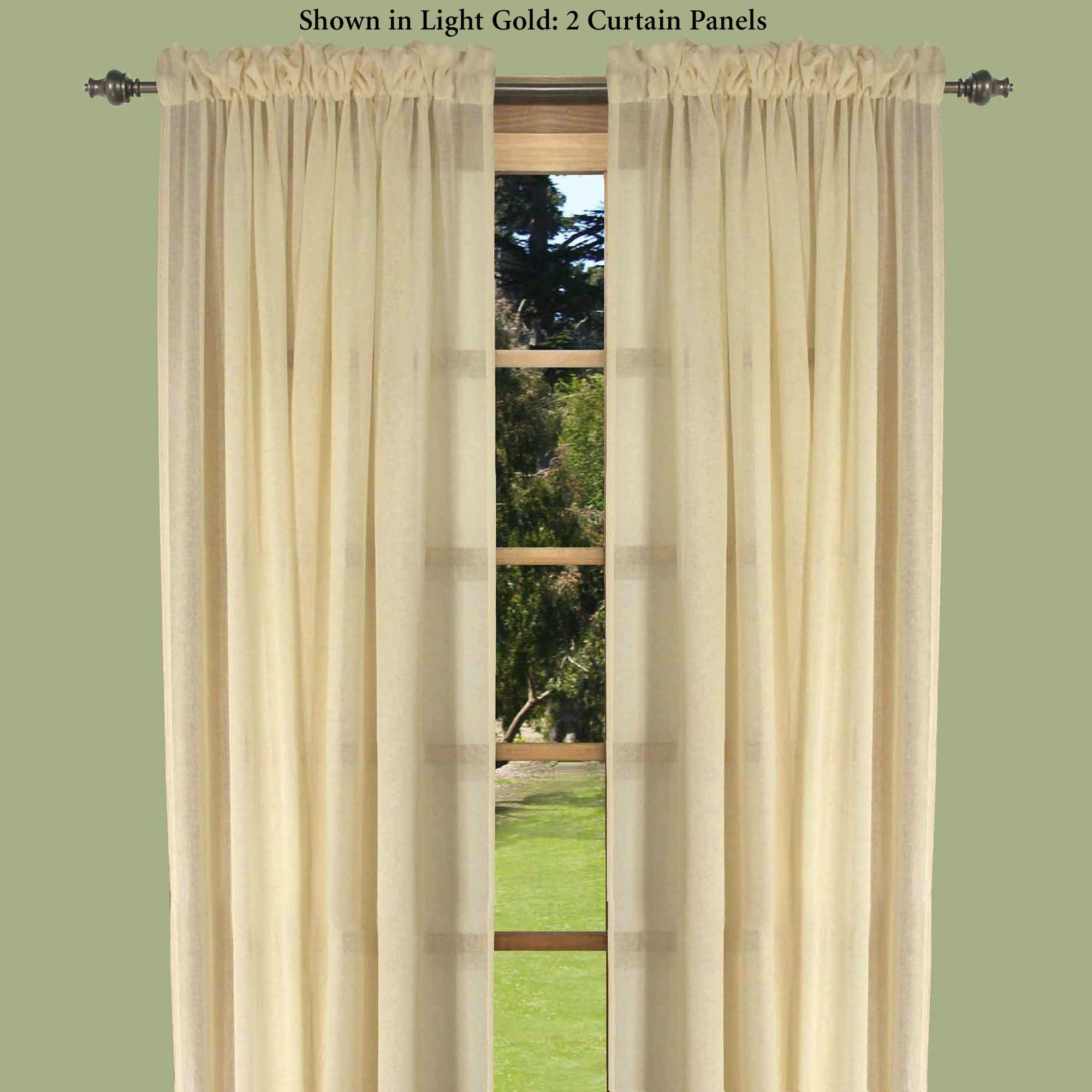 Lucerne Semi Sheer Curtain Panel Touch To Zoom