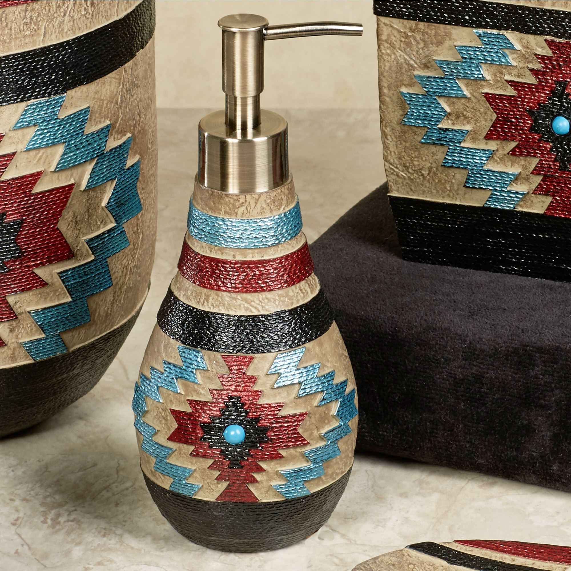 santa fe southwest bath accessories rh touchofclass com  southwestern bathroom decor accessories