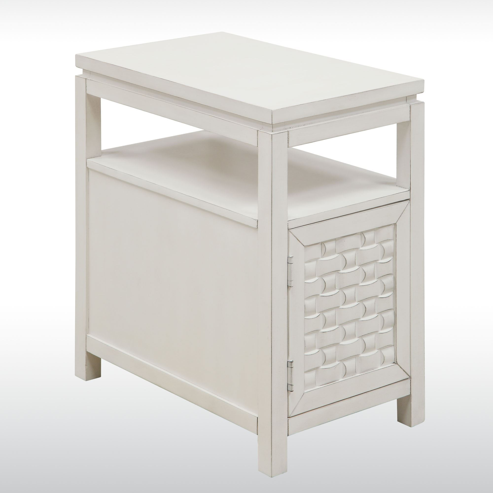 Darcy Off White Wooden Side Storage Table