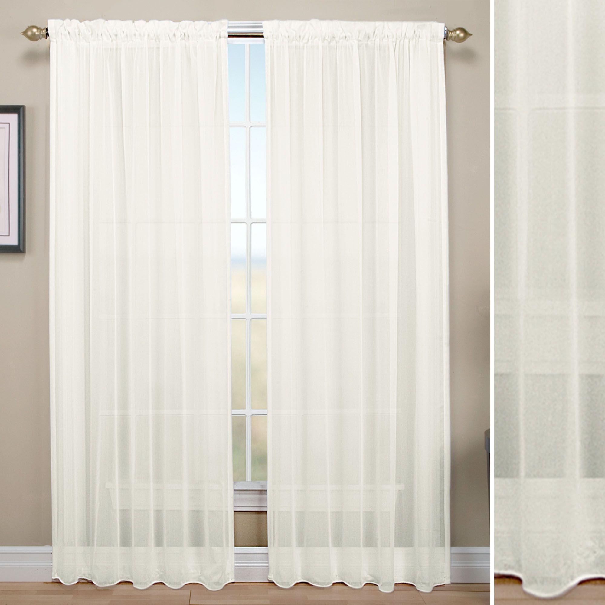 Tergaline Rod Pocket Sheer Curtain Panel