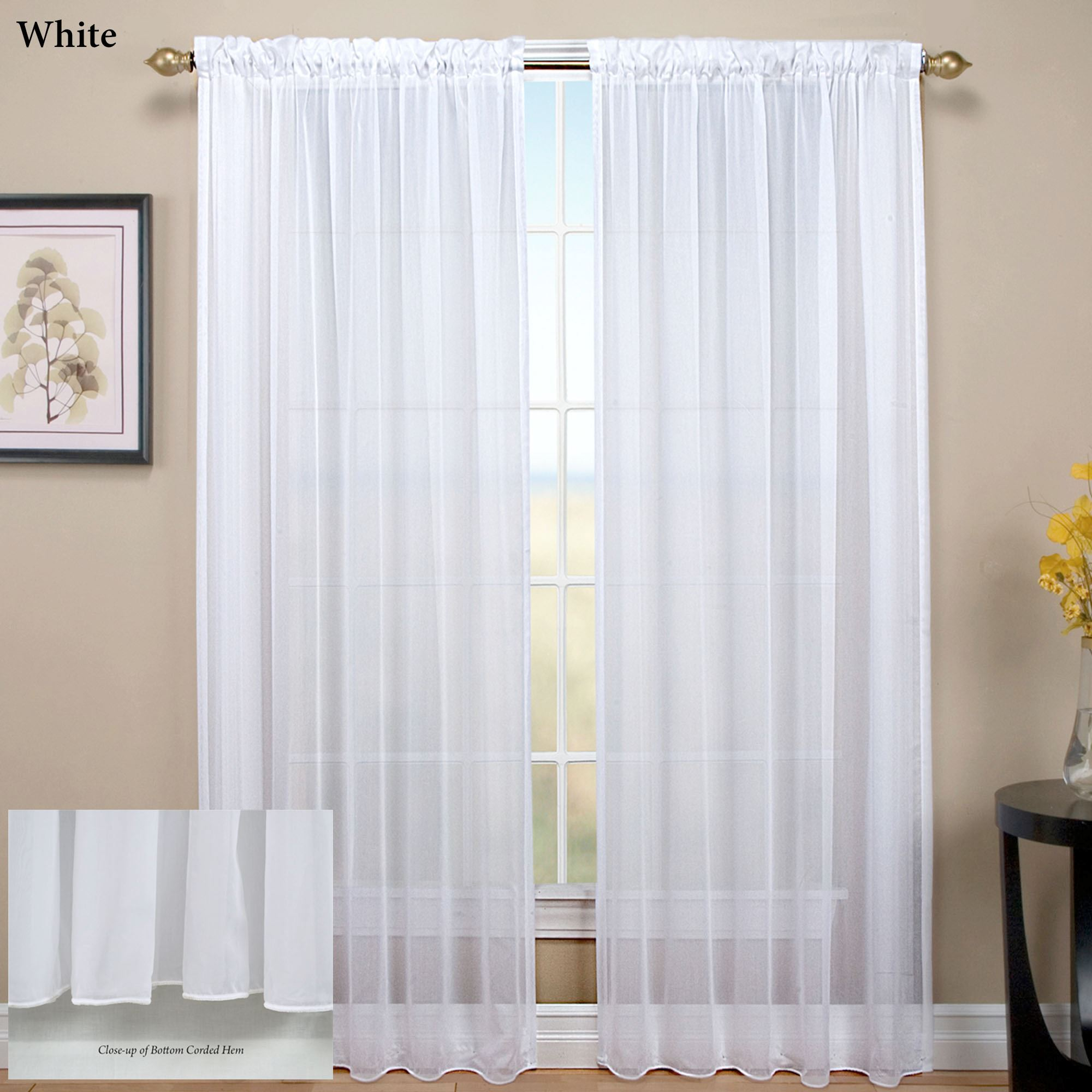 Tergaline Sheer Curtain Panel