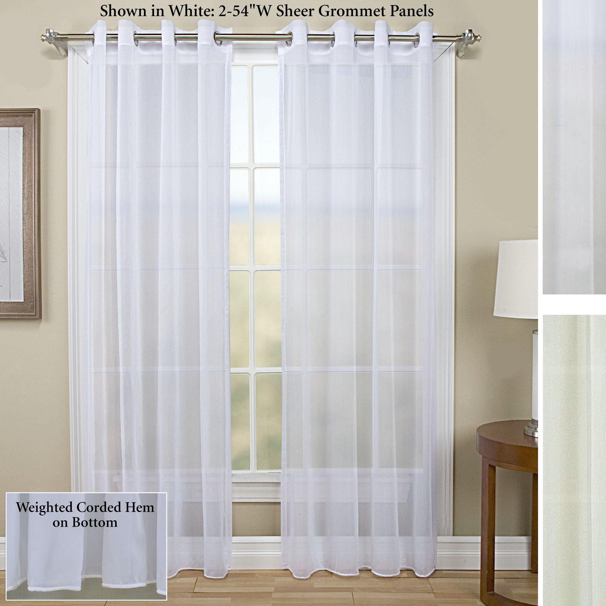 Tergaline Sheer Grommet Curtain Panel
