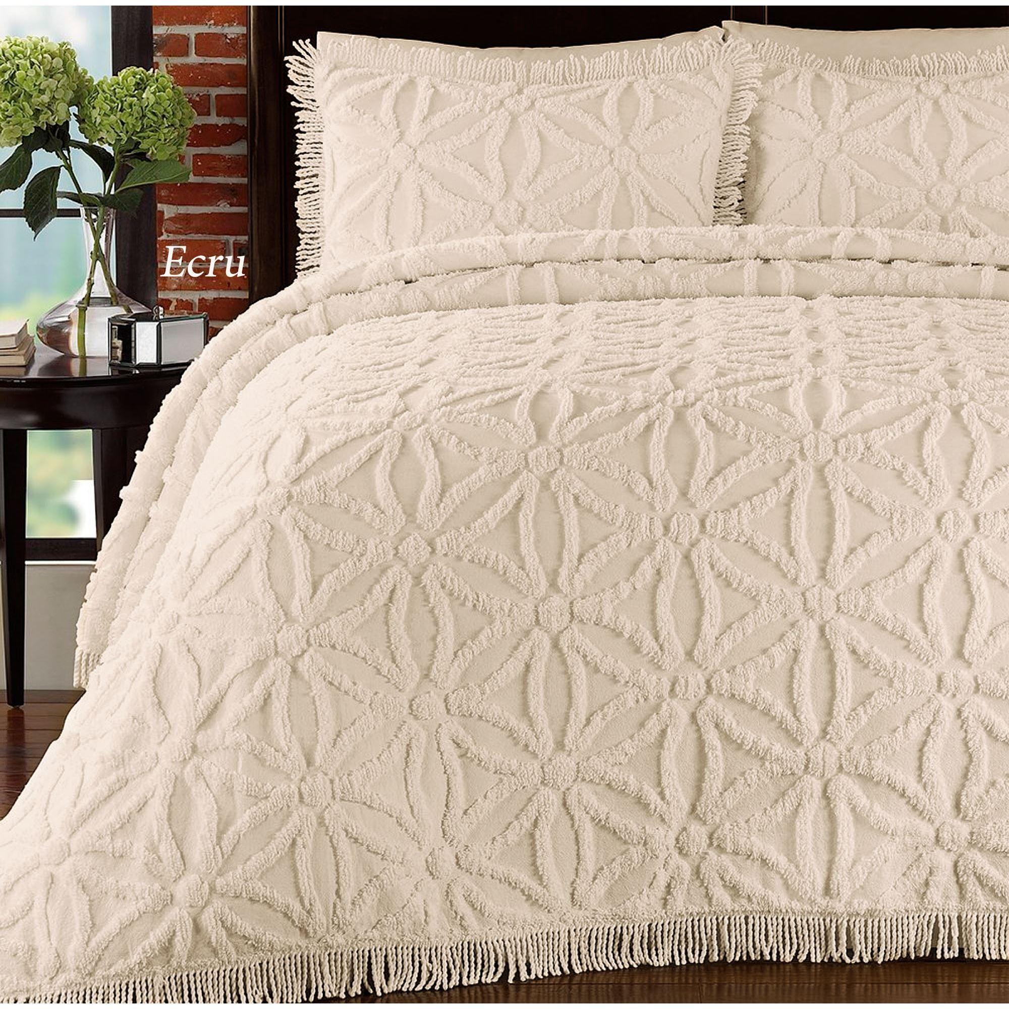 380 GSM Arianna Cotton Chenille Bedspread Set