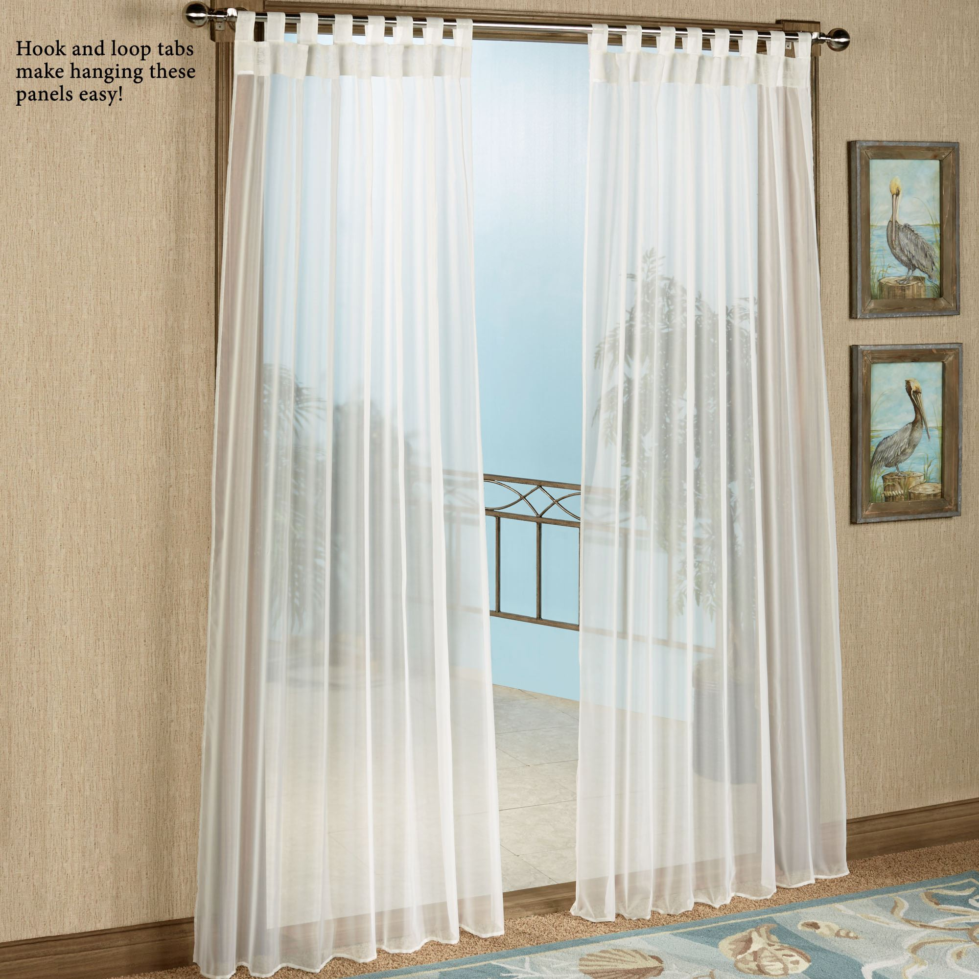 Escape Tab Top Sheer Indoor Outdoor Curtain Panel