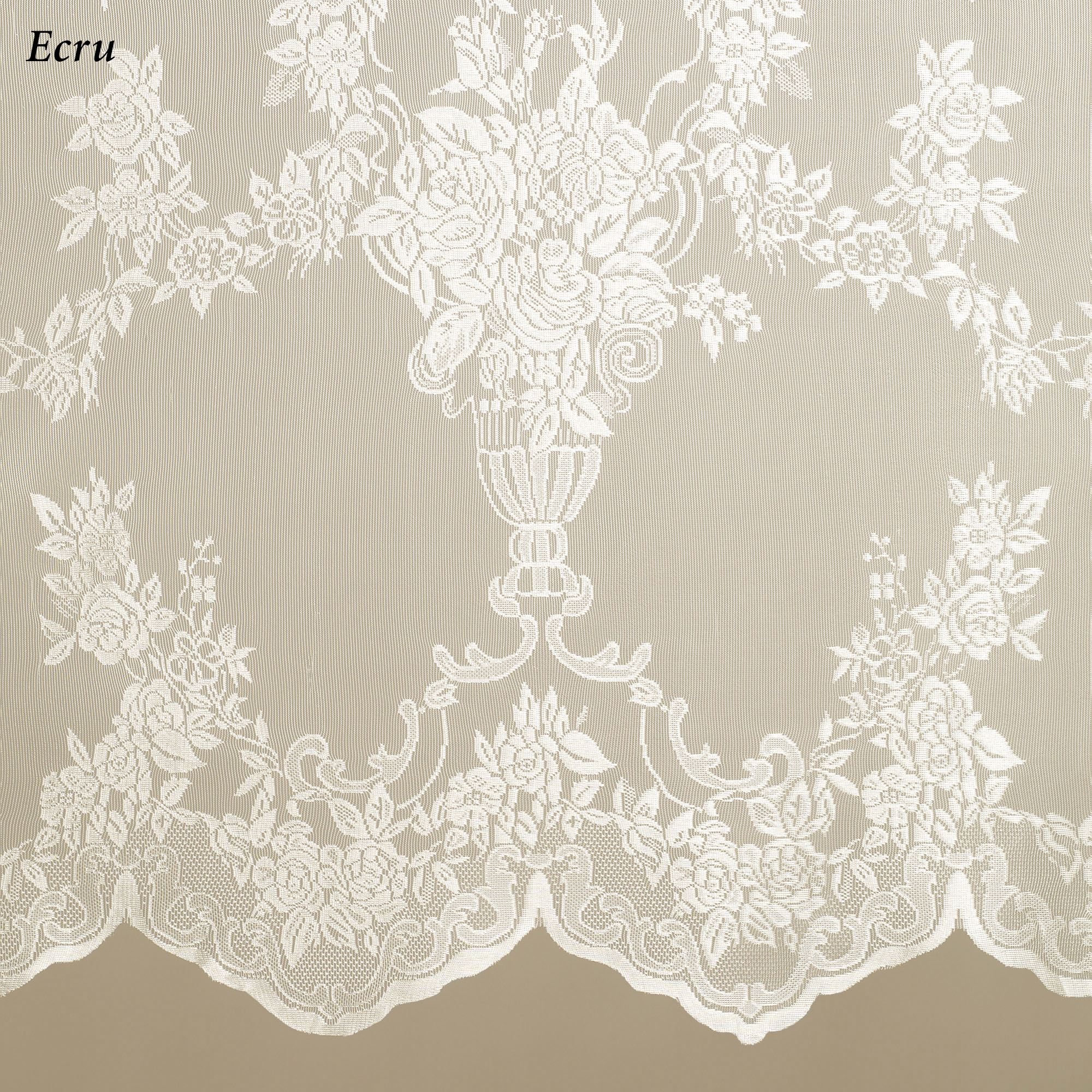 Easy Style Carly Lace Curtain Panel With Attached Valance