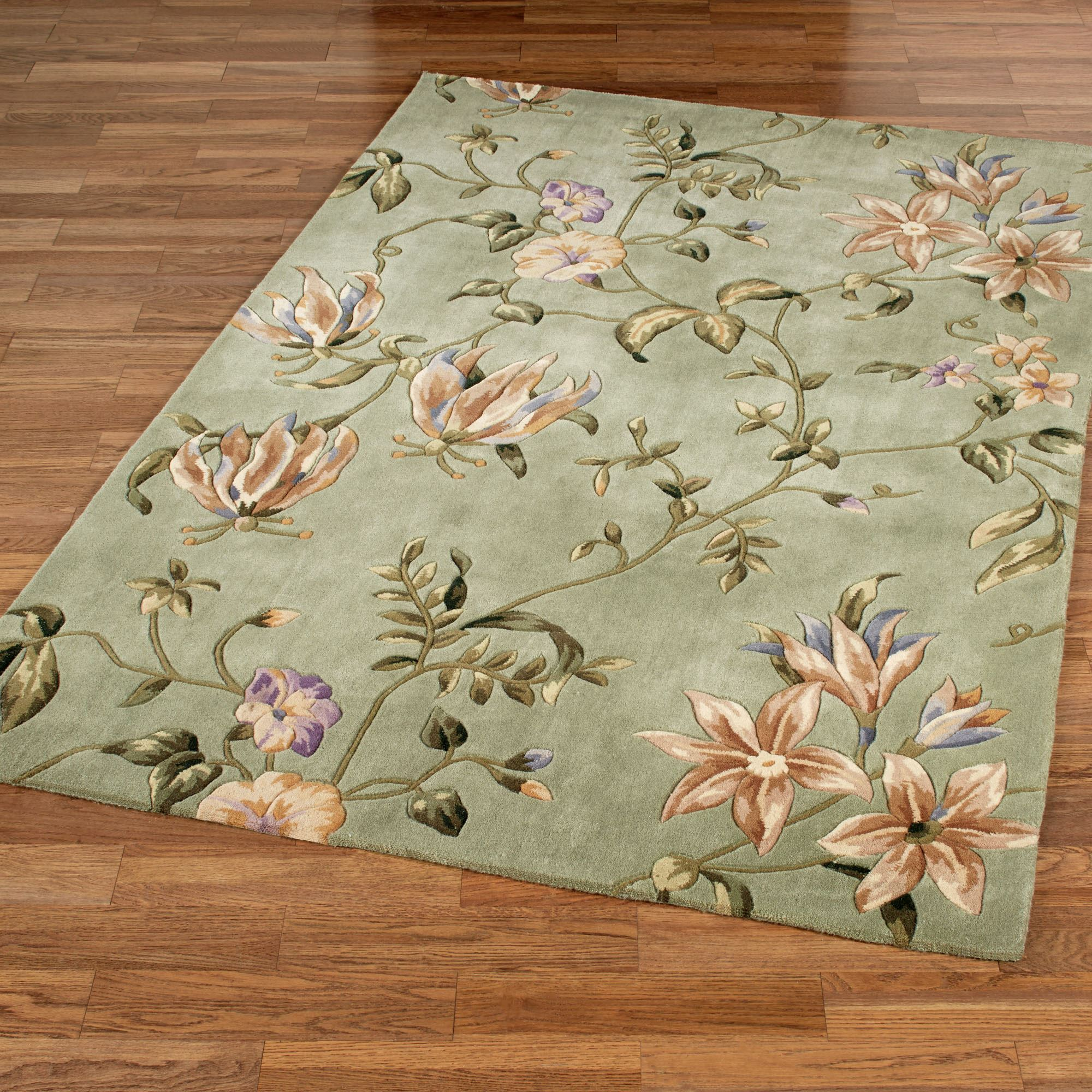 Secret Fl Rectangle Rug Sage