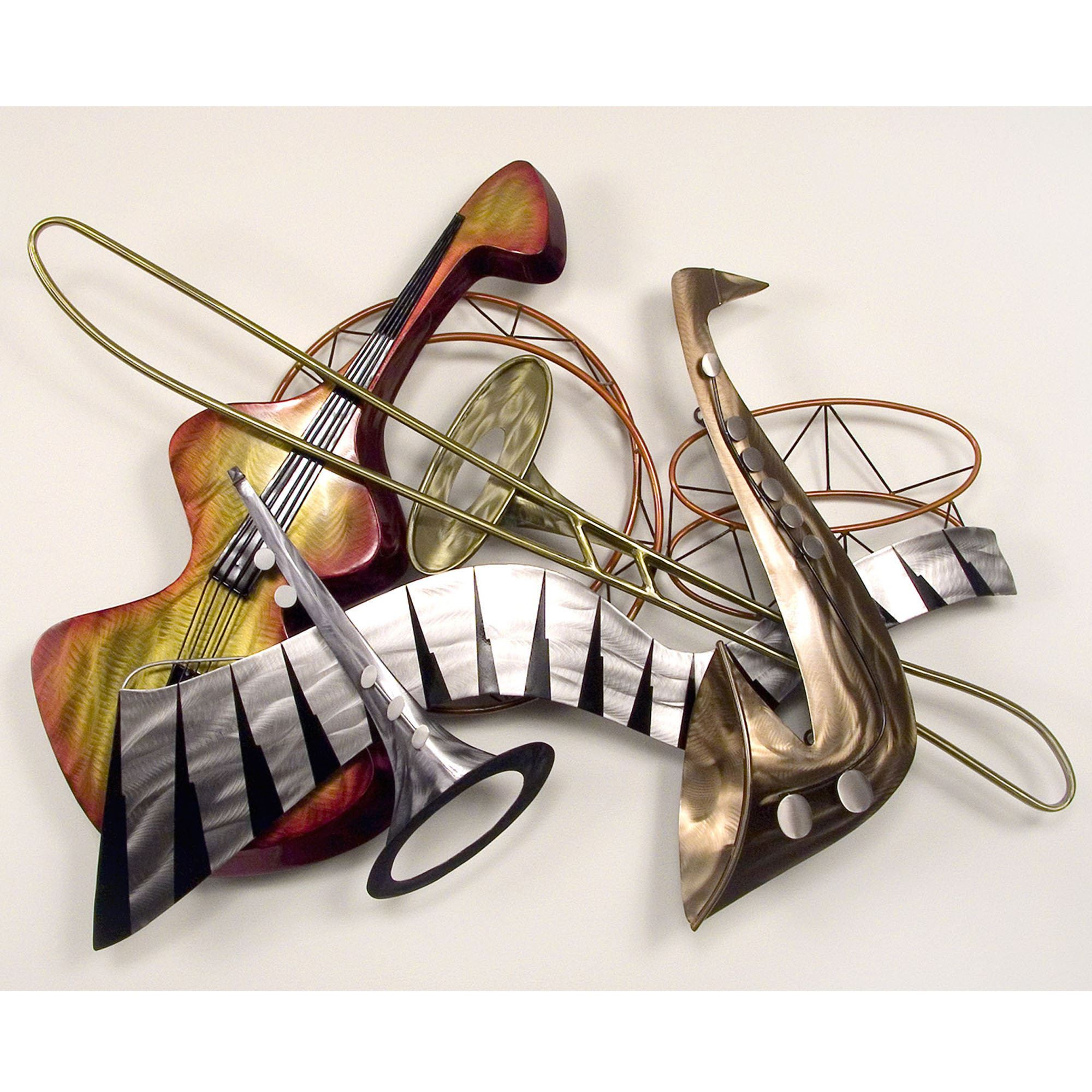 cool jazz steel wall sculpture. Black Bedroom Furniture Sets. Home Design Ideas