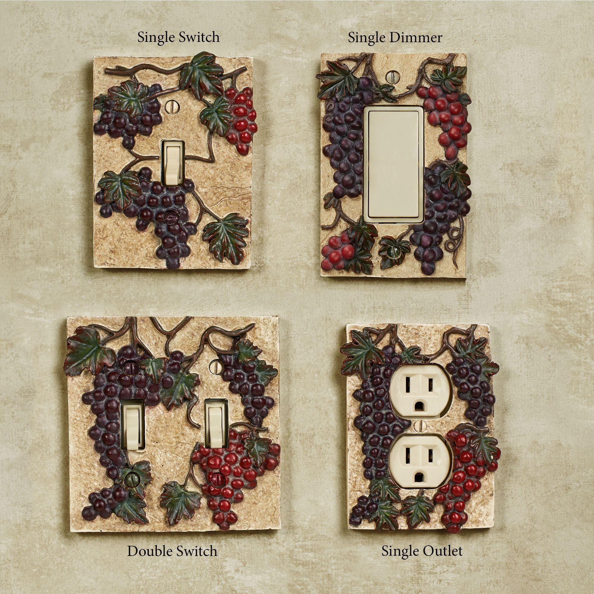 Vintage Harvest Grape Switchplates