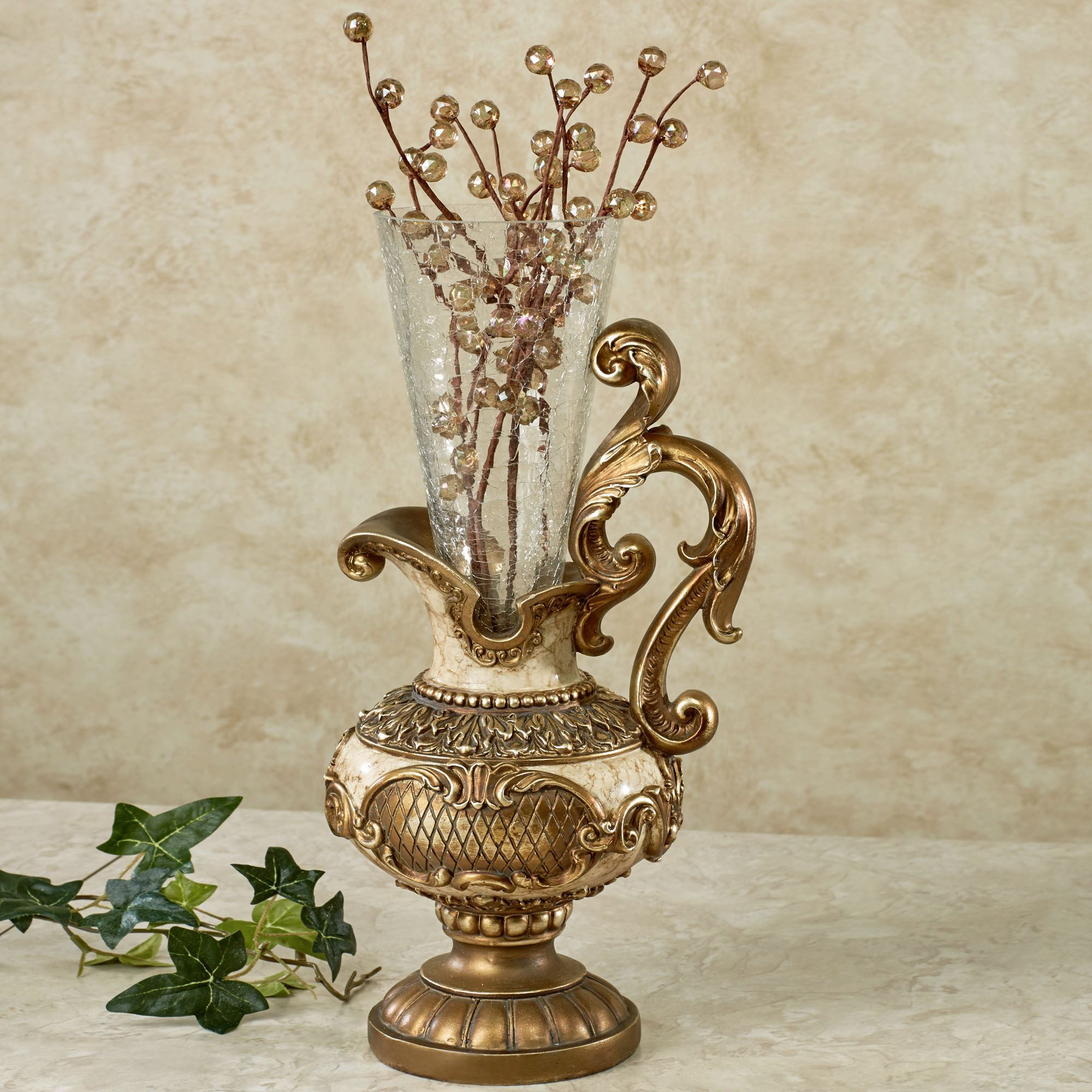 Table vases floor vases decorative jars touch of class arellia table vase with glass holder reviewsmspy