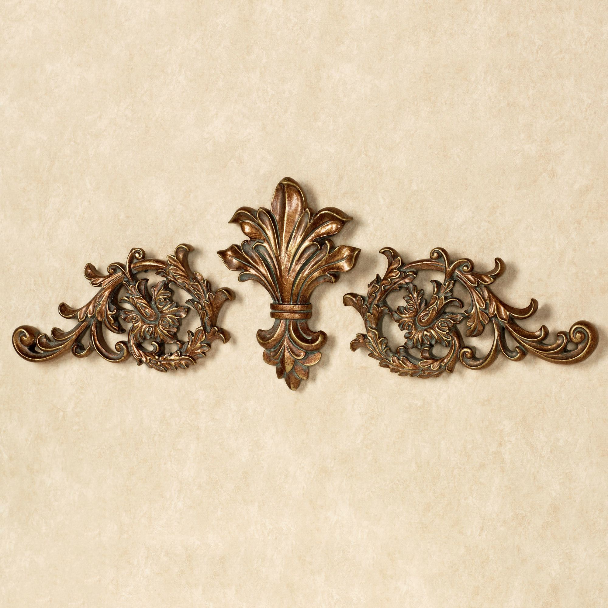 Click to expand  sc 1 st  Touch of Class & Tazia Golden Bronze Decorative Wall Topper Set