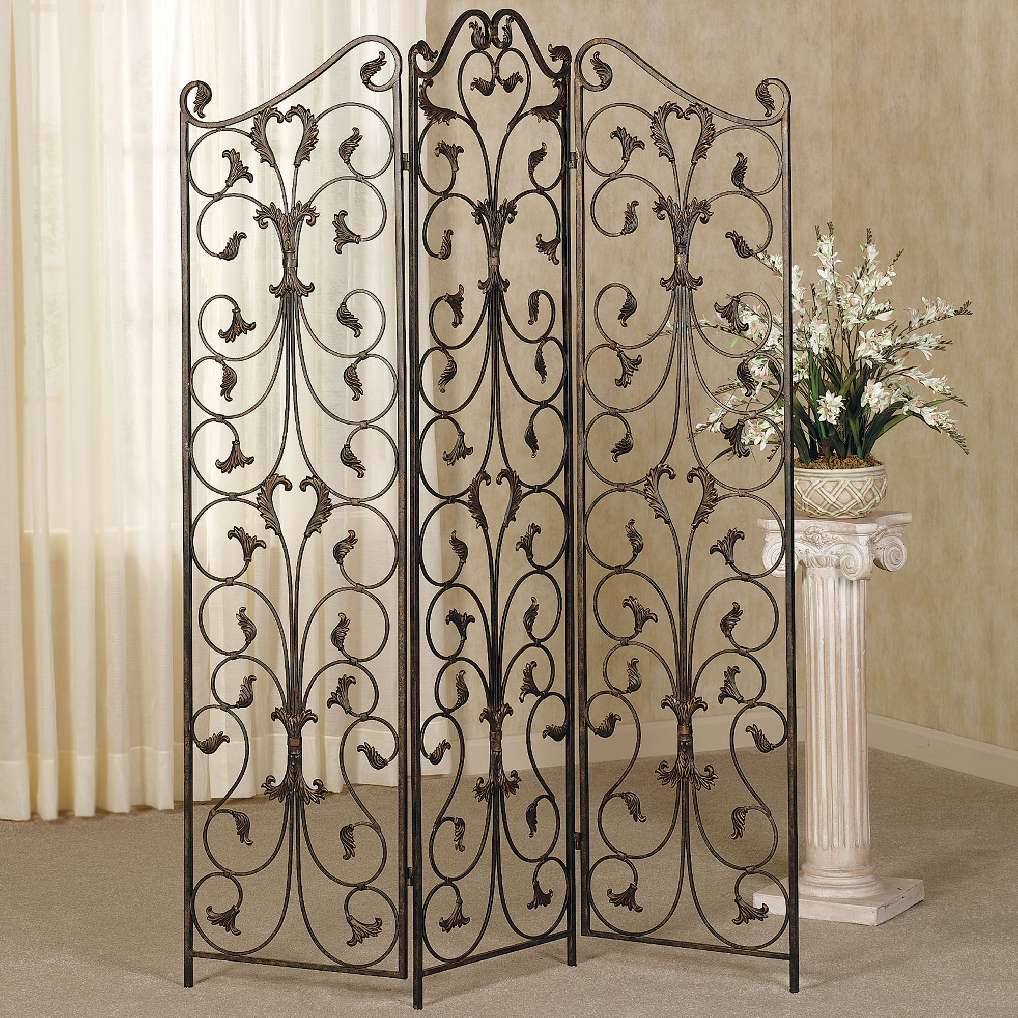 iron room pinterest wooden divider pin and decor wrought ideas