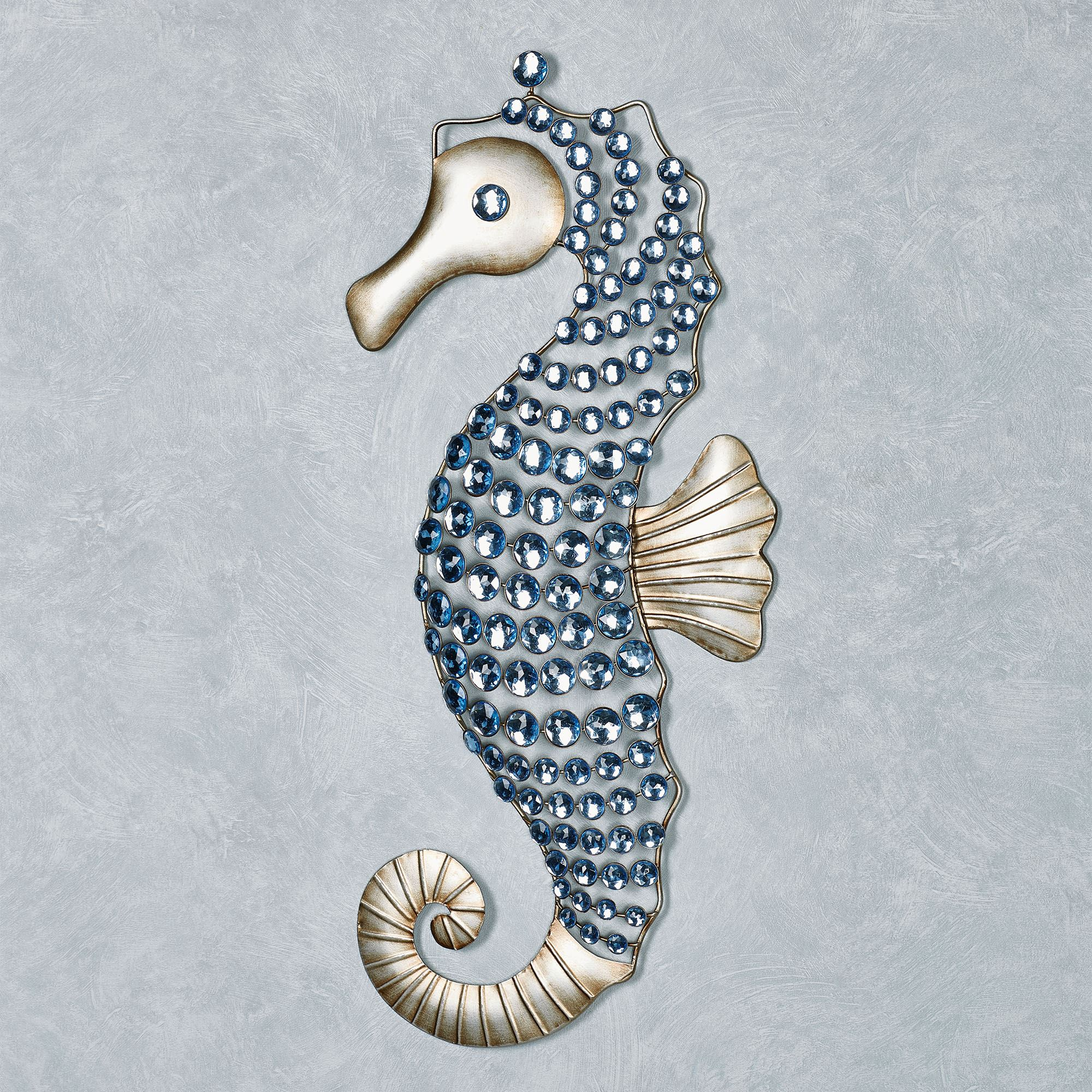 Seahorse Gems Wall Art Platinum. Click To Expand