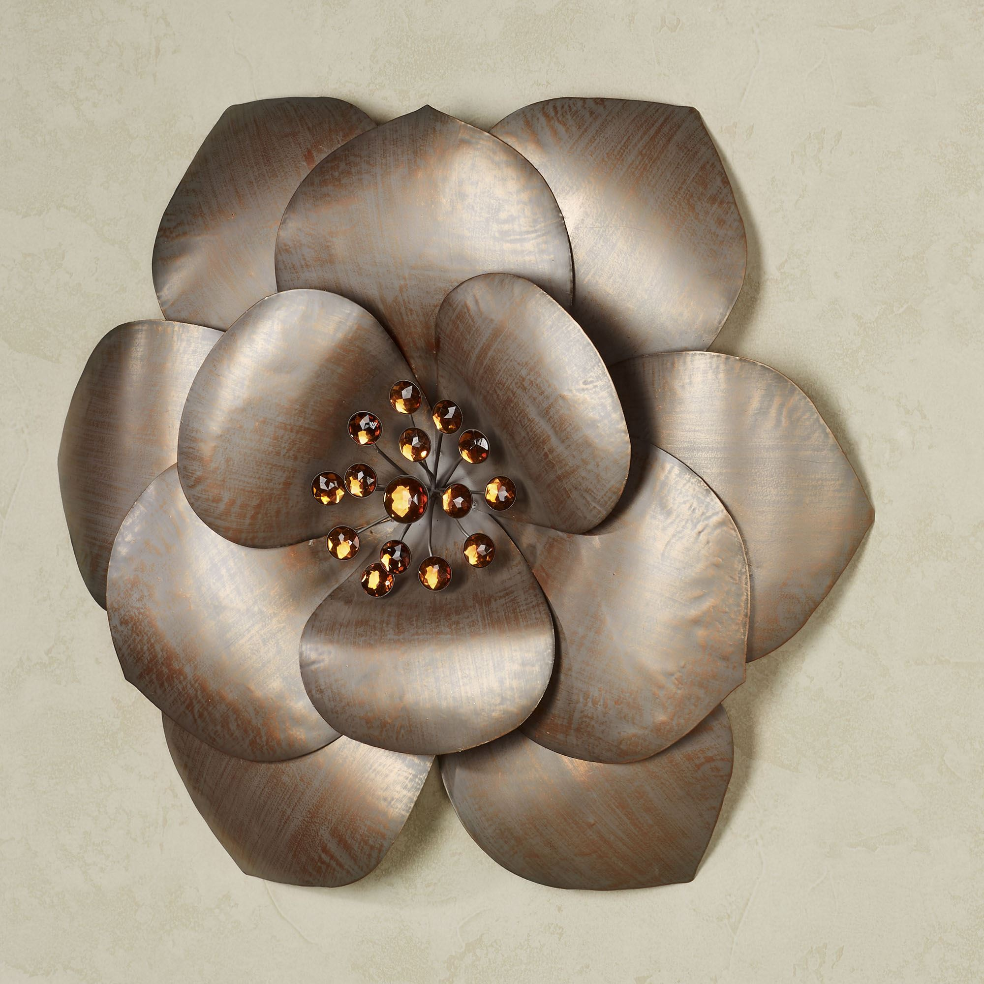 Fiore Gem Flower Blossom Metal Wall Art. Fiore Wall Art Multi Metallic.  Click To Expand