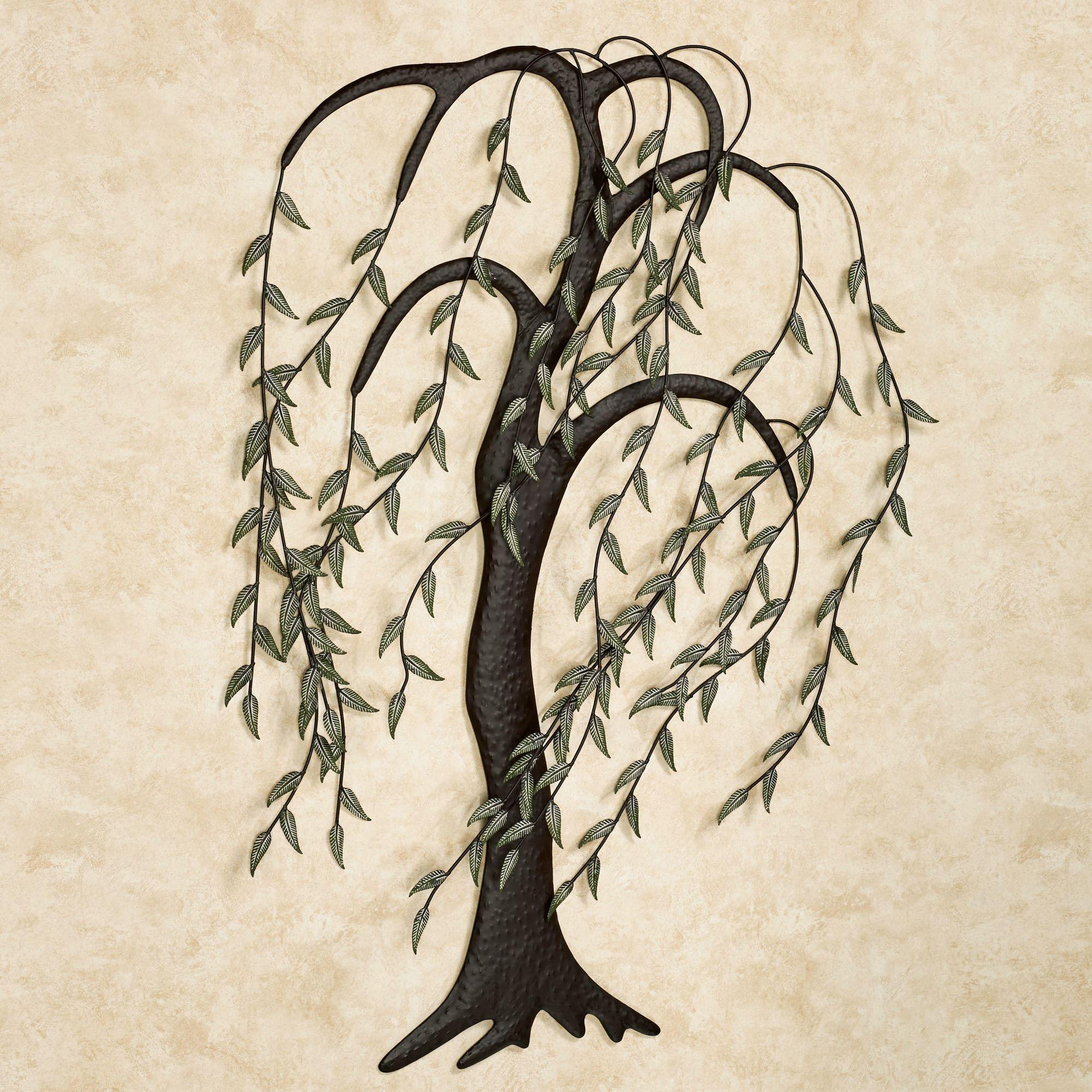 Willow breeze tree metal wall art sculpture willow breeze wall art sculpture brown touch to zoom