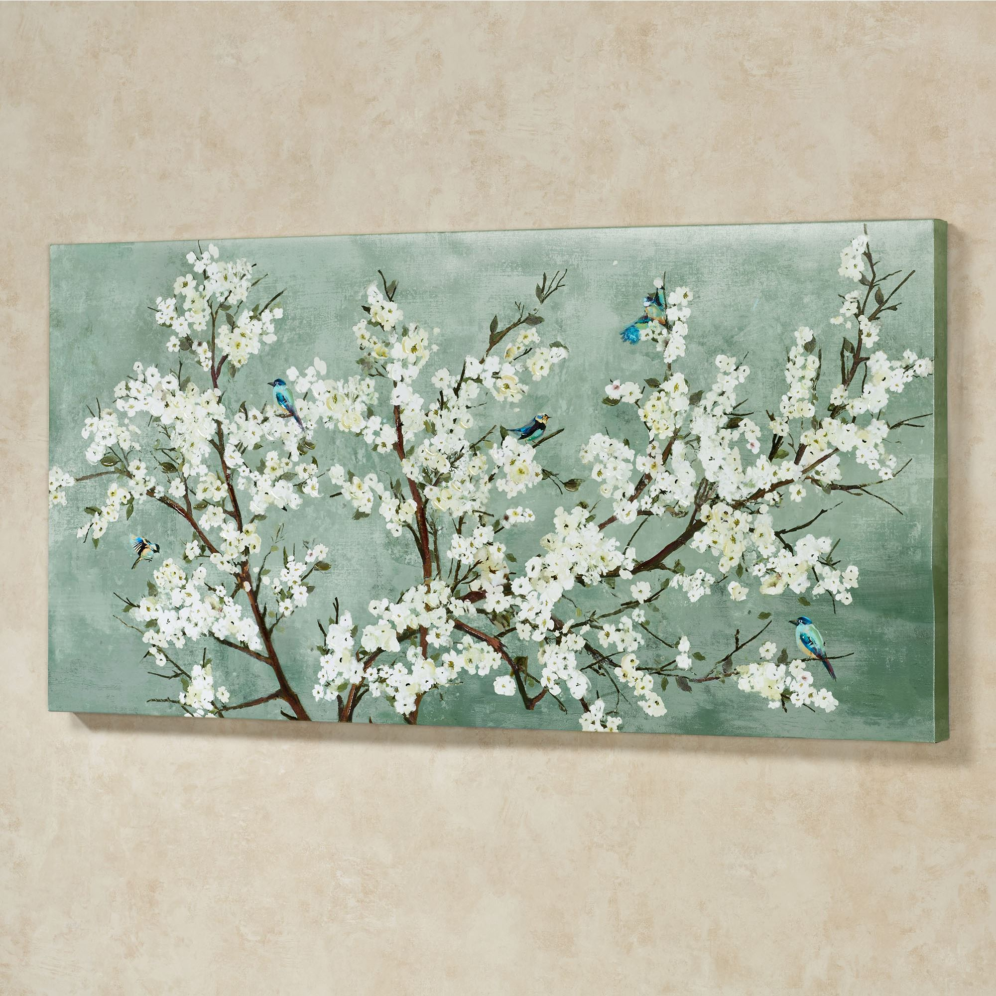 Blissful Branches Floral Canvas Wall Art