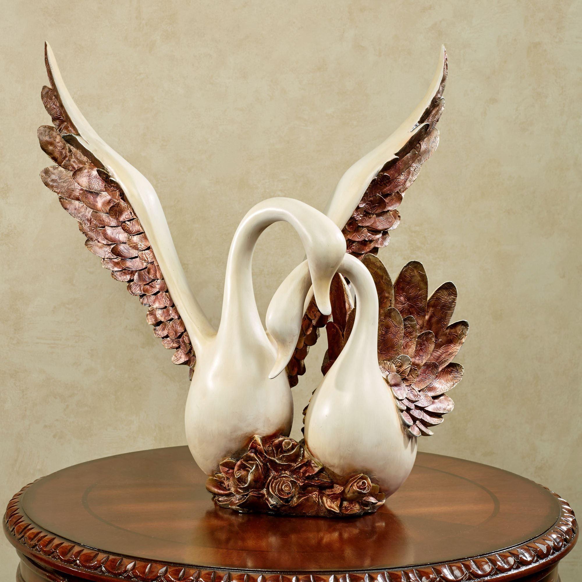 Wings Of Love Romantic Swans Sculpture