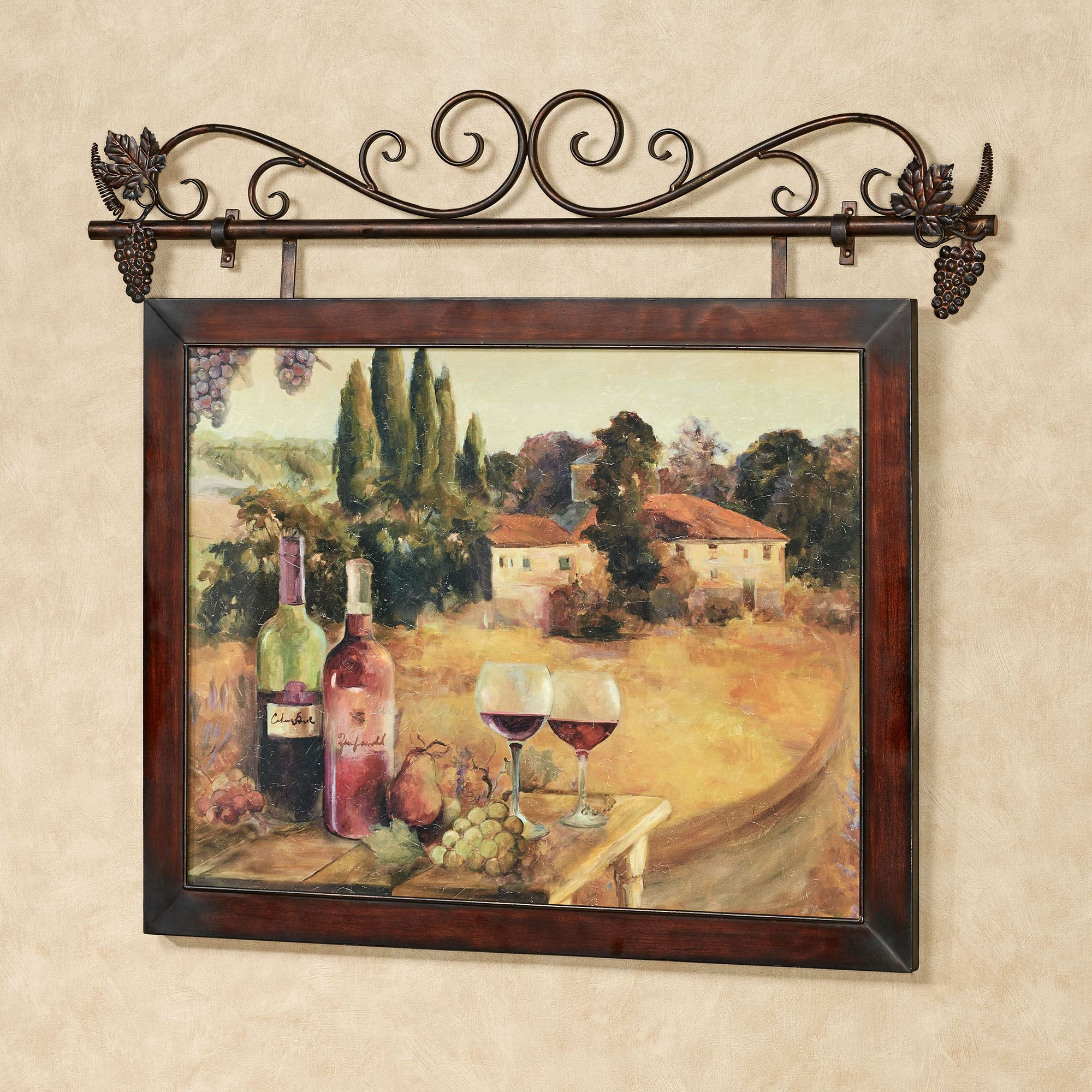 Spoleto Afternoon Italian Scene Wall Art With Metal Hanger
