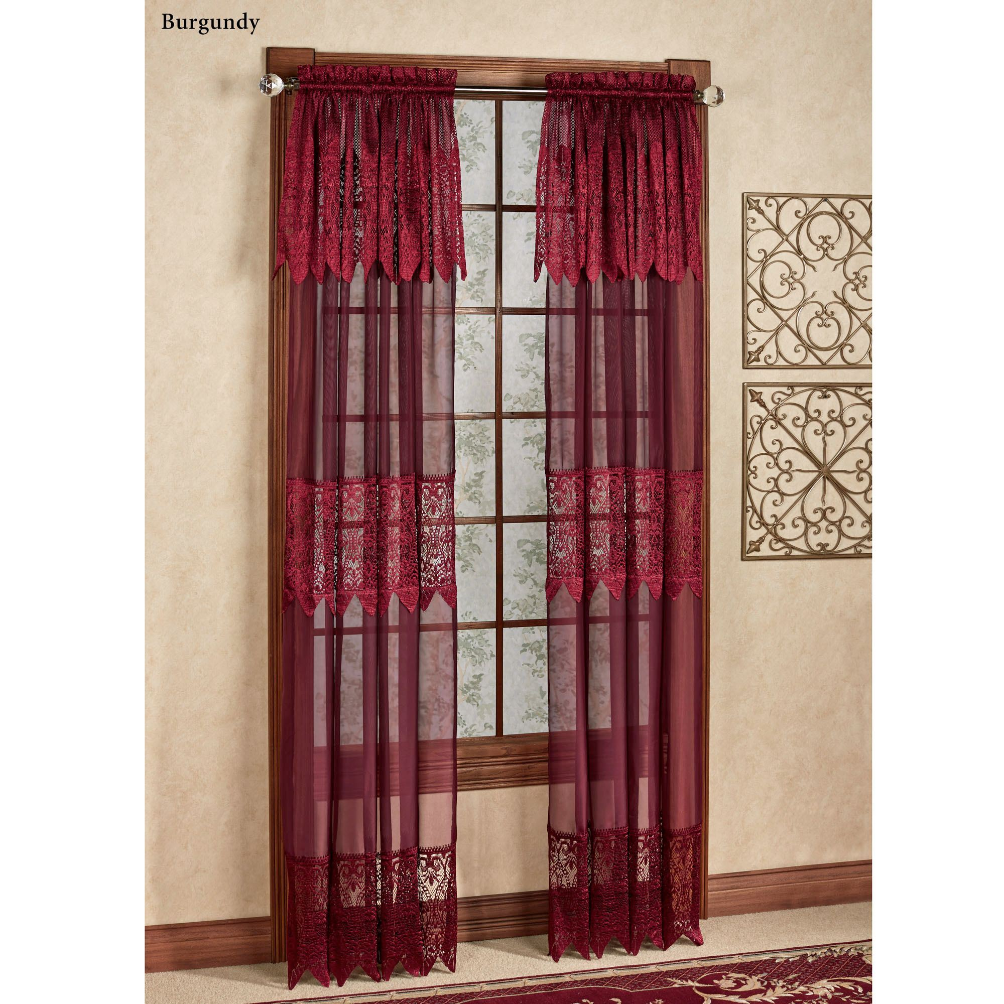 Valerie Sheer Panel With Attached Valance