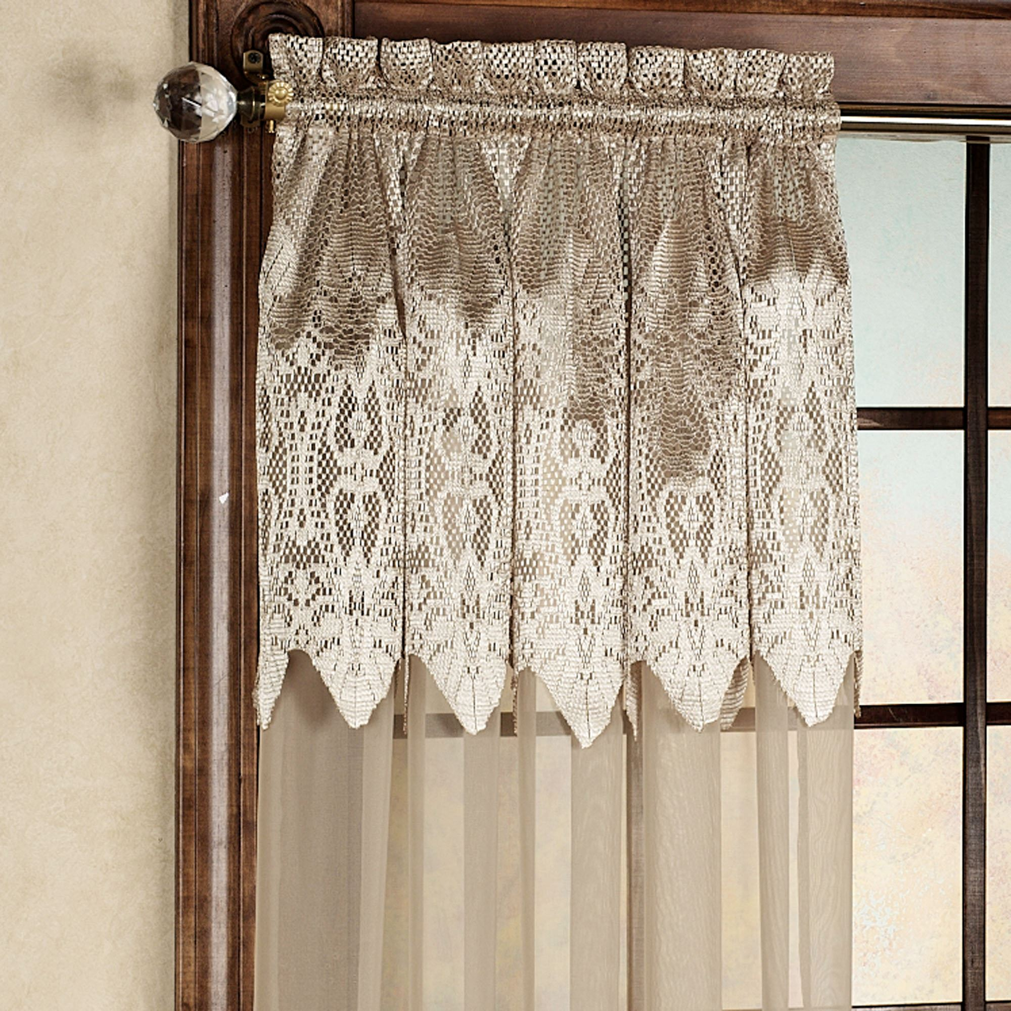 Easy style valerie sheer panels with attached valances for Where to buy curtain panels