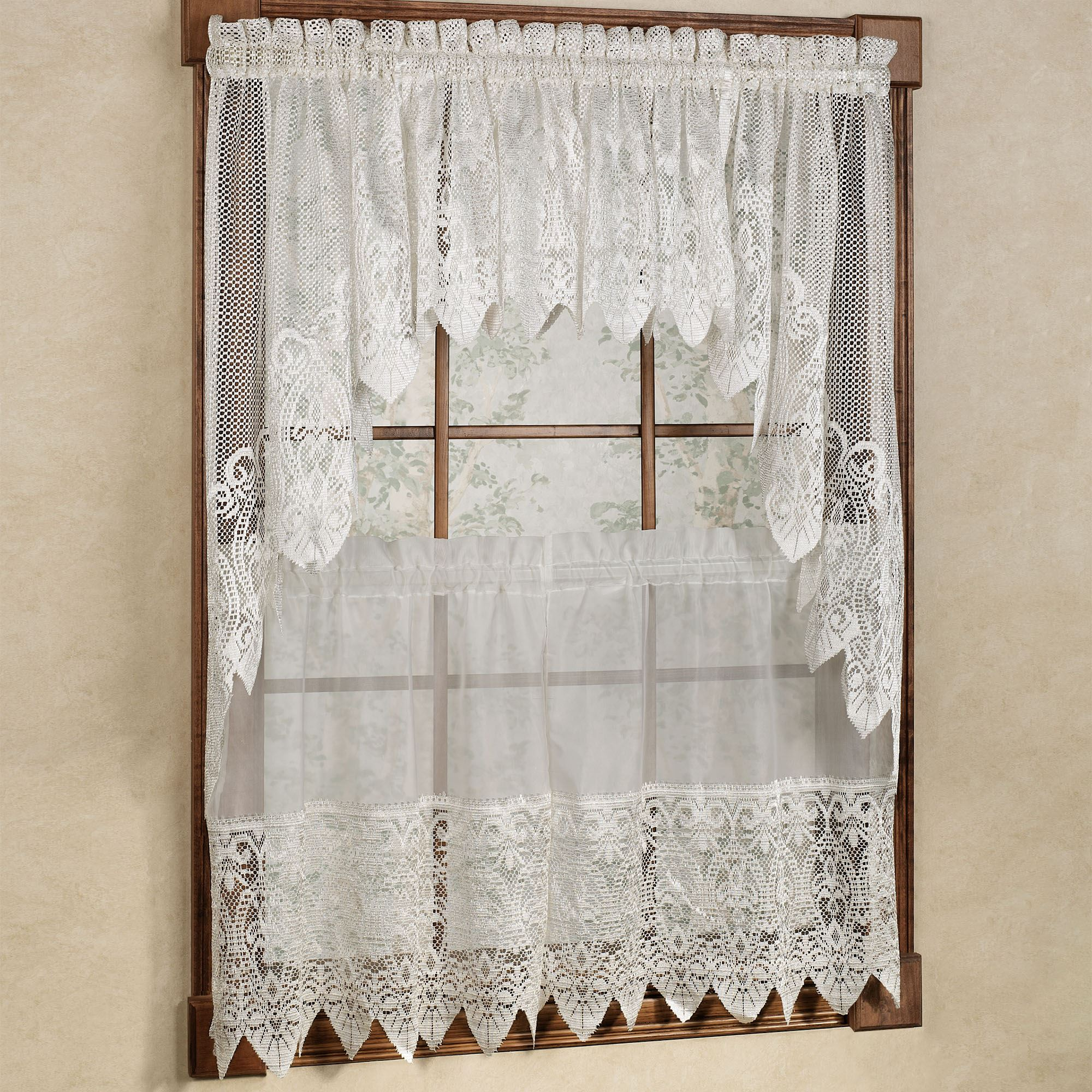 Well-liked Valerie Macrame Sheer Tier Window Treatment ZQ45