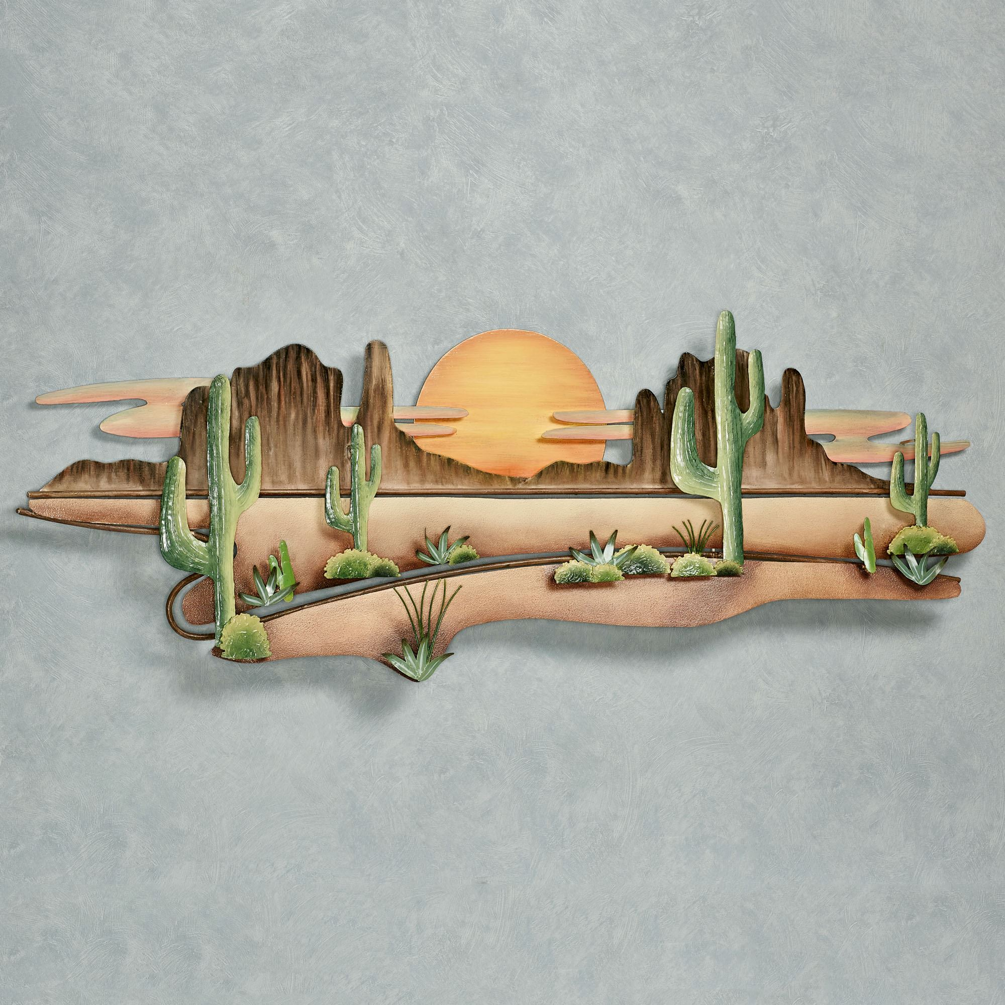Desert Serenity Southwest Metal Wall Sculpture By Jasonw