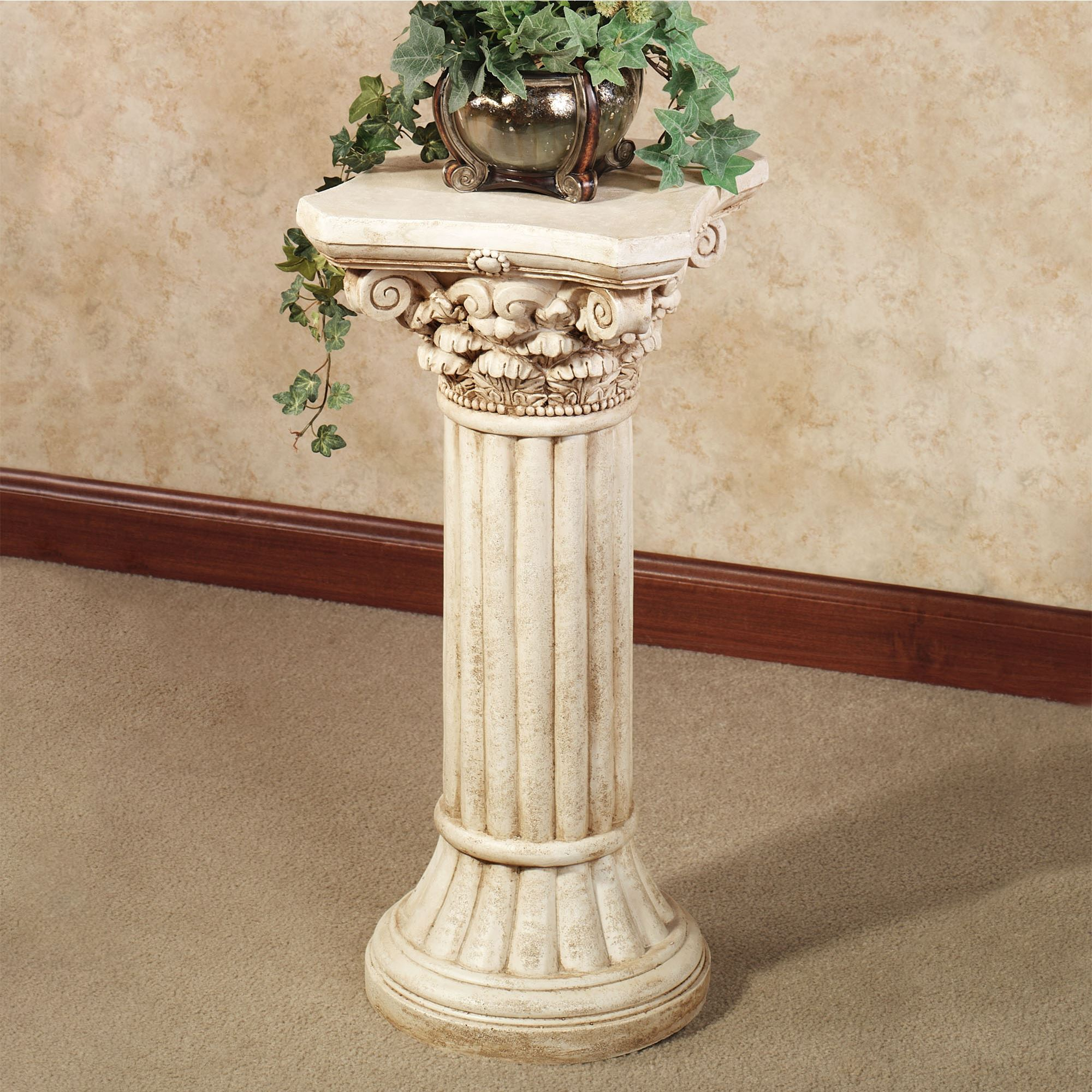 Corinthian indoor outdoor display column pedestal - Column pedestal plant stand ...