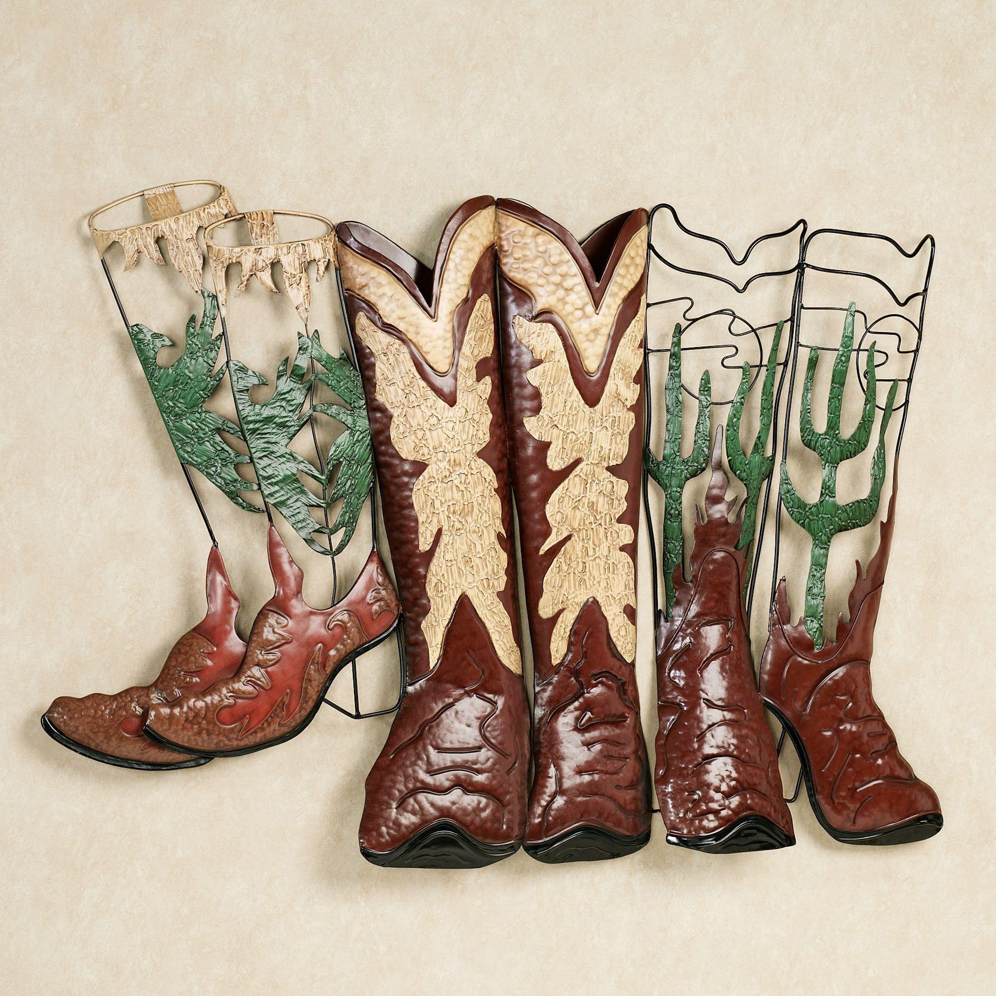 happy trails cowboy boots metal wall art sculpture rh touchofclass com cowboy boots at amazon uk mens cowboy boot attachment