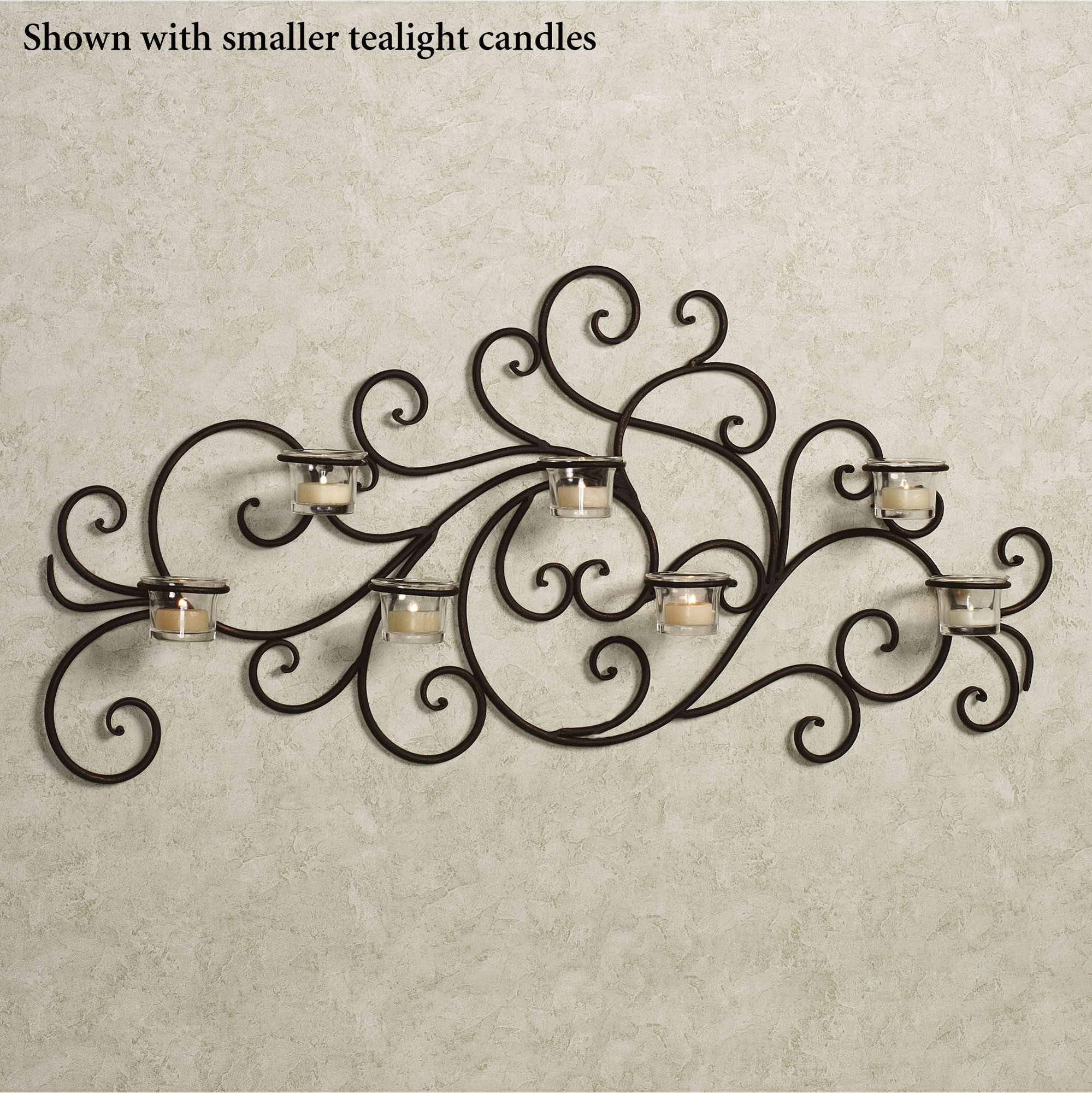 Black Wrought Iron Wall Art Custom Morganica Wrought Iron Tealight Wall Candelabra Design Decoration