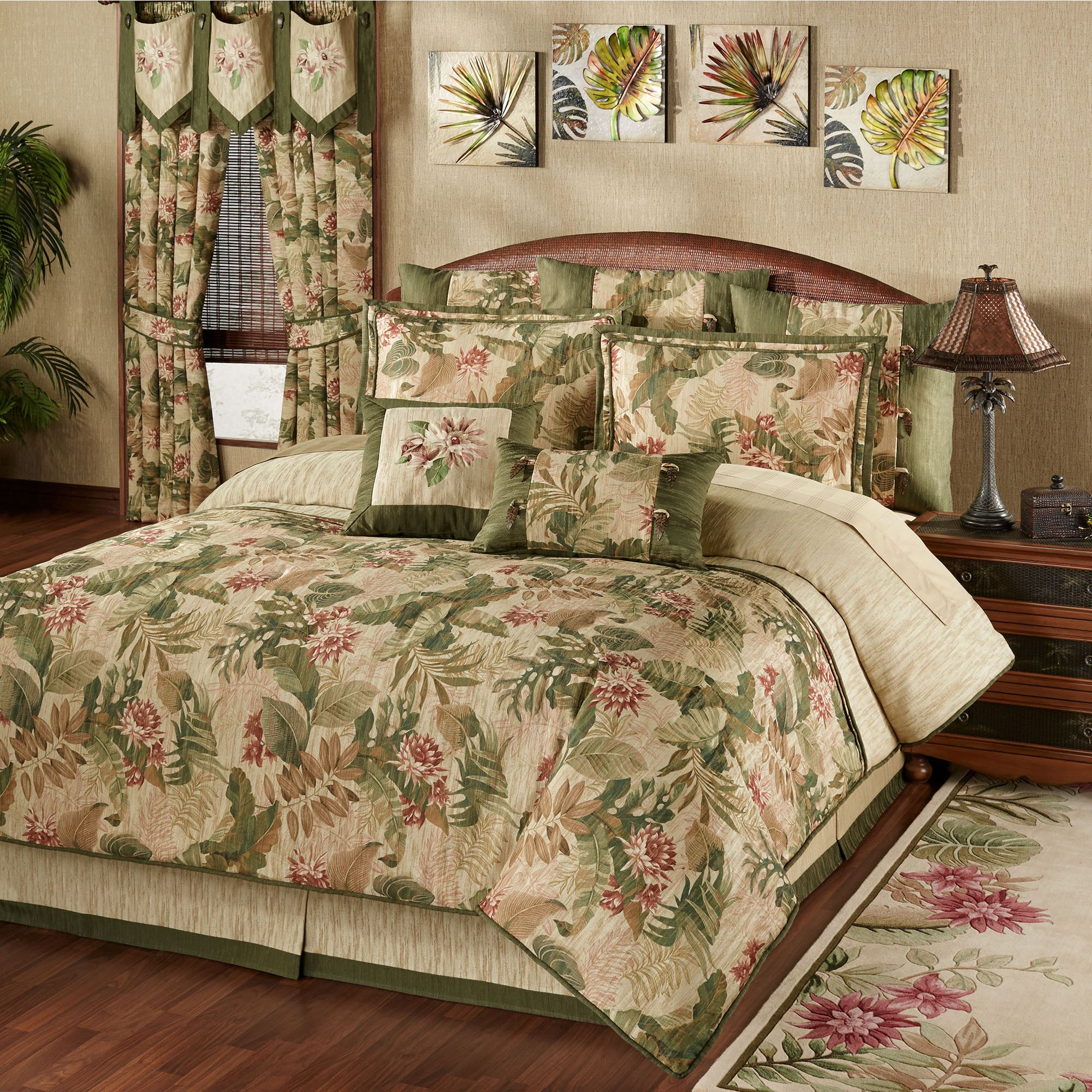 s collection quilts home bed fashions bedding brunswick tropical colbrunswickthom paul comforters