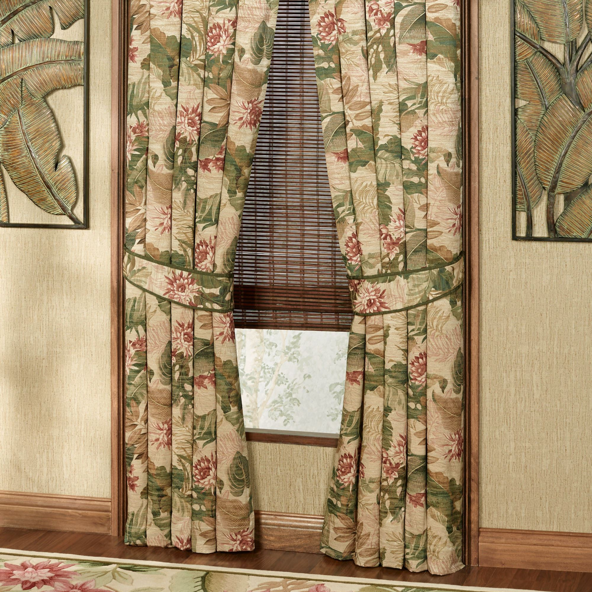 Tropical Haven Tailored Curtain Pair Multi Warm 84 X