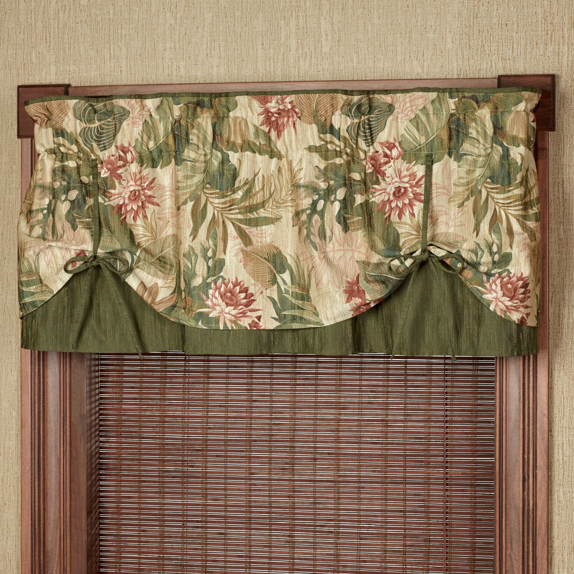 Top Tropical Haven Tie Up Valance Window Treatment PV21