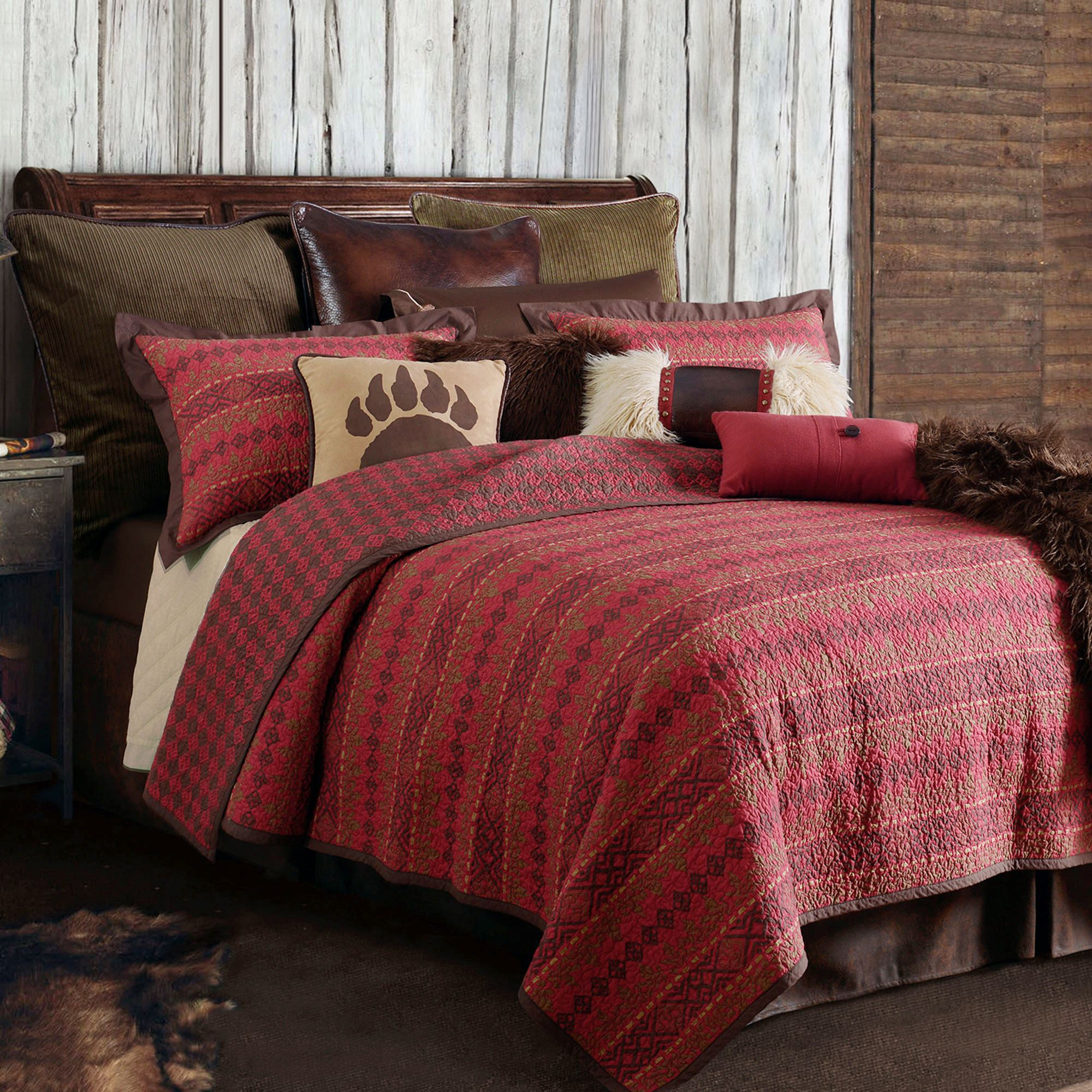 bedding p by wagner comforter duvet chocolate set rustic covers croscill plaid