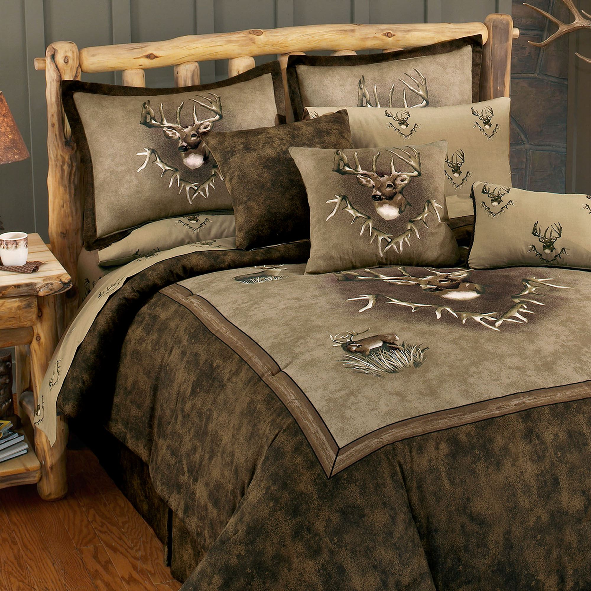 Whitetail Ridge Deer Comforter Bedding From Blue Ridge Trading