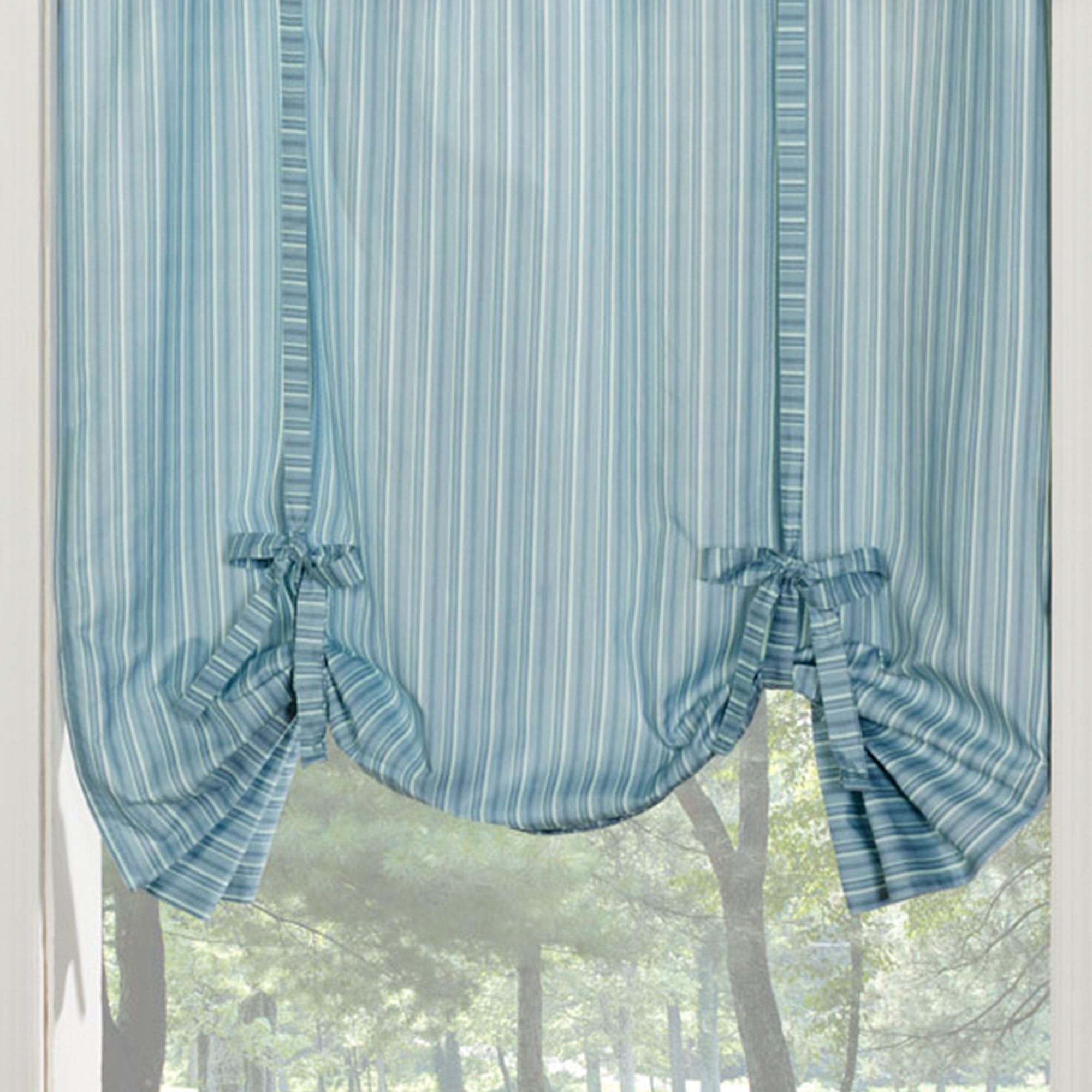 Clearwater Coastal Striped Grommet Curtains