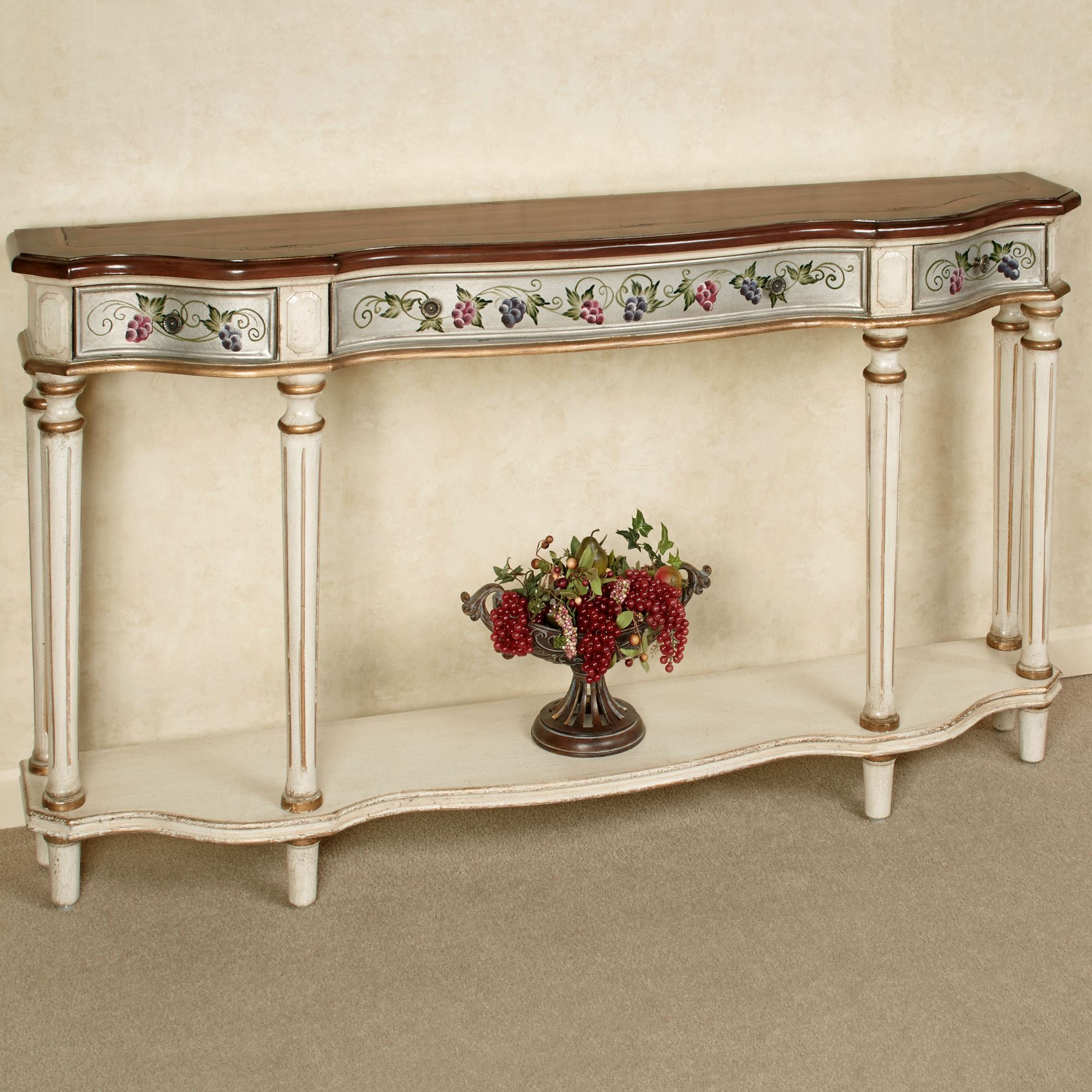 Merveilleux Uva Viti Italian Grapevine Wooden Buffet Table With Drawers Thumbnail Image