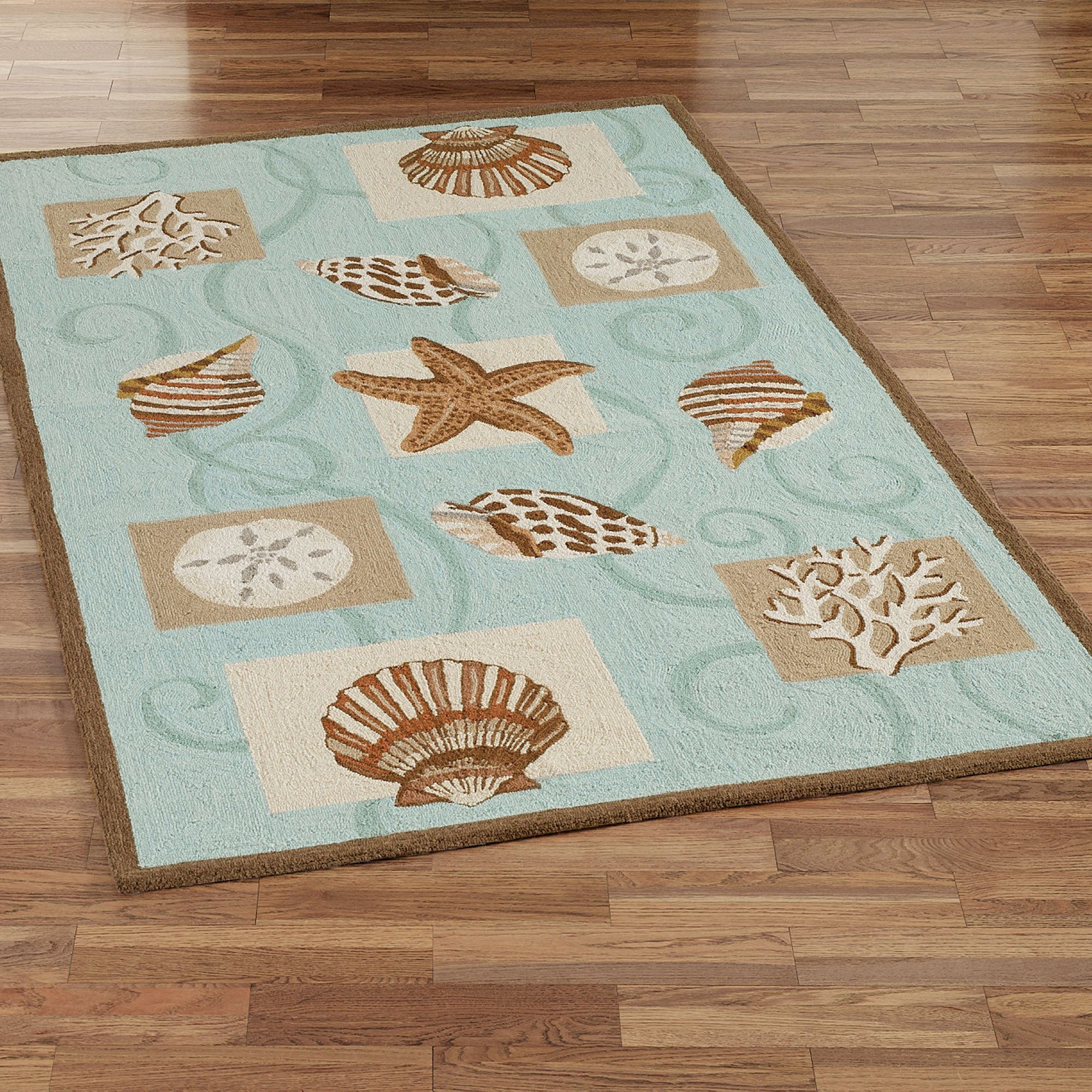 Sea S Hooked Wool Area Rugs