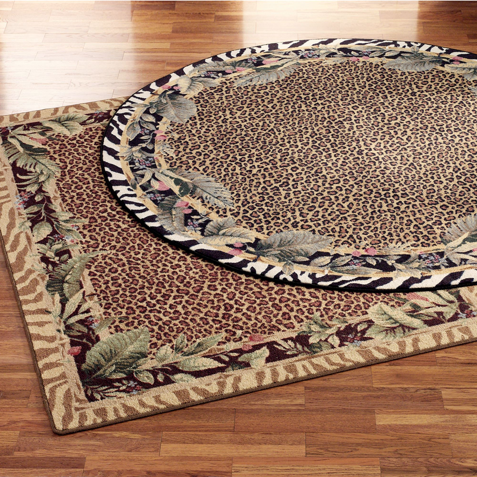 Jungle Safari Animal Print Area Rugs