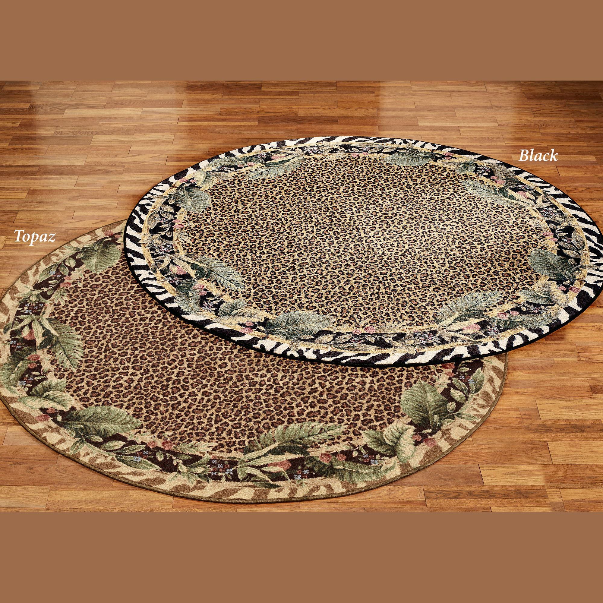 Jungle Safari Animal Print Round Area Rug