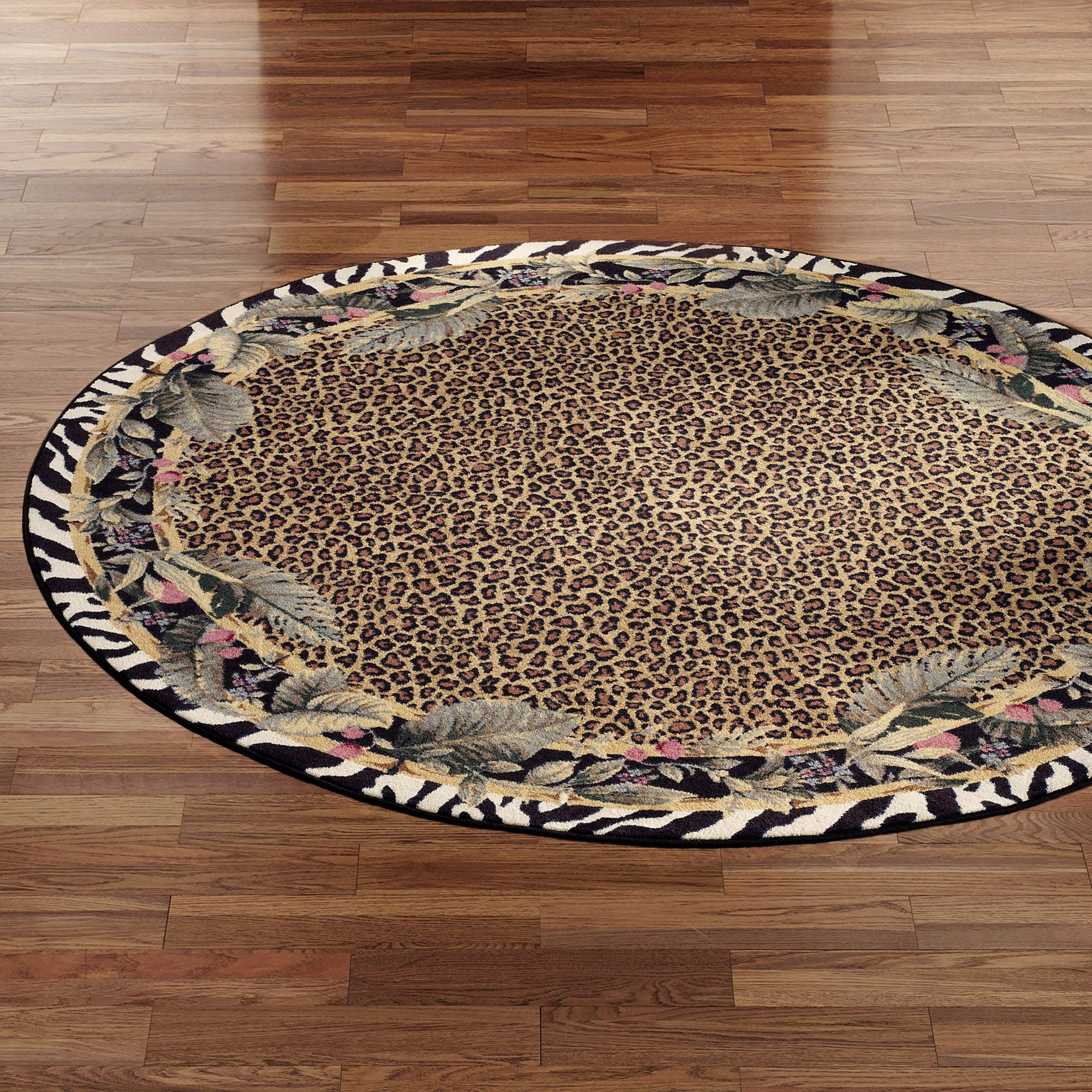 Jungle safari round rug 77