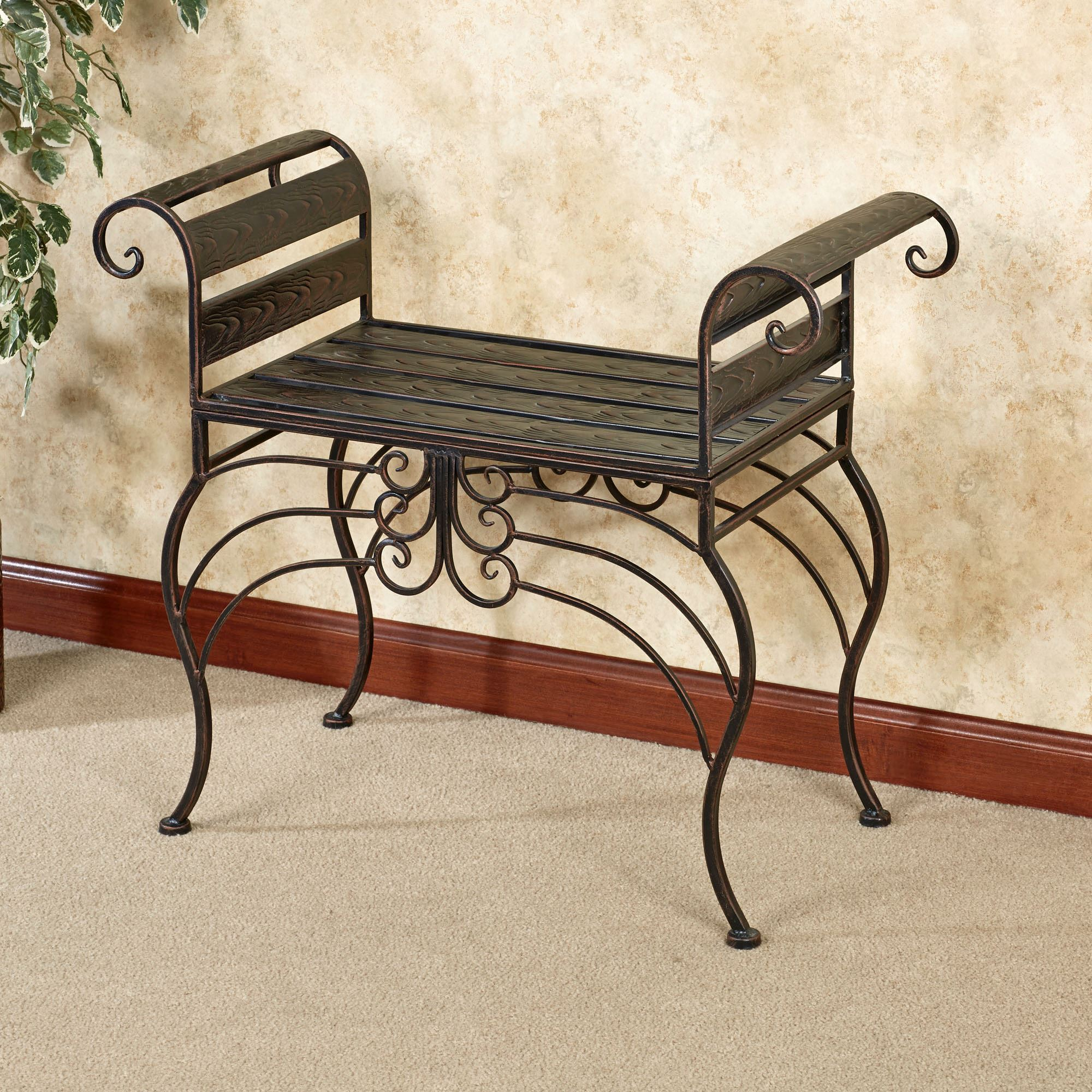 Brooks Garden Indoor Outdoor Metal Bench