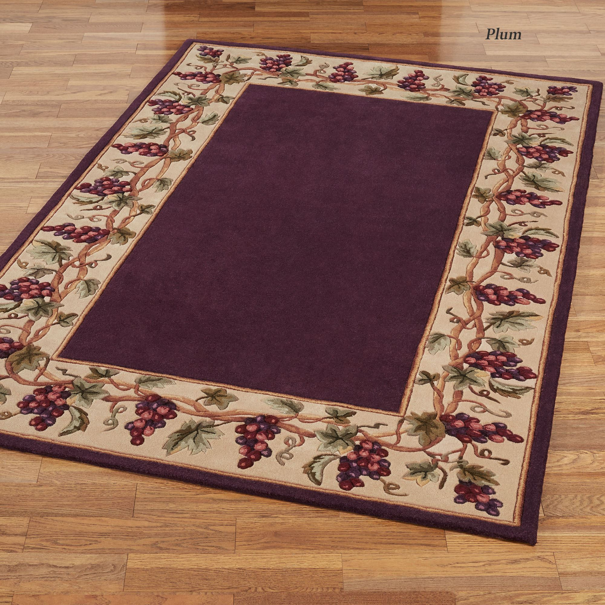 Bordeaux Border Area Rug Touch To Zoom