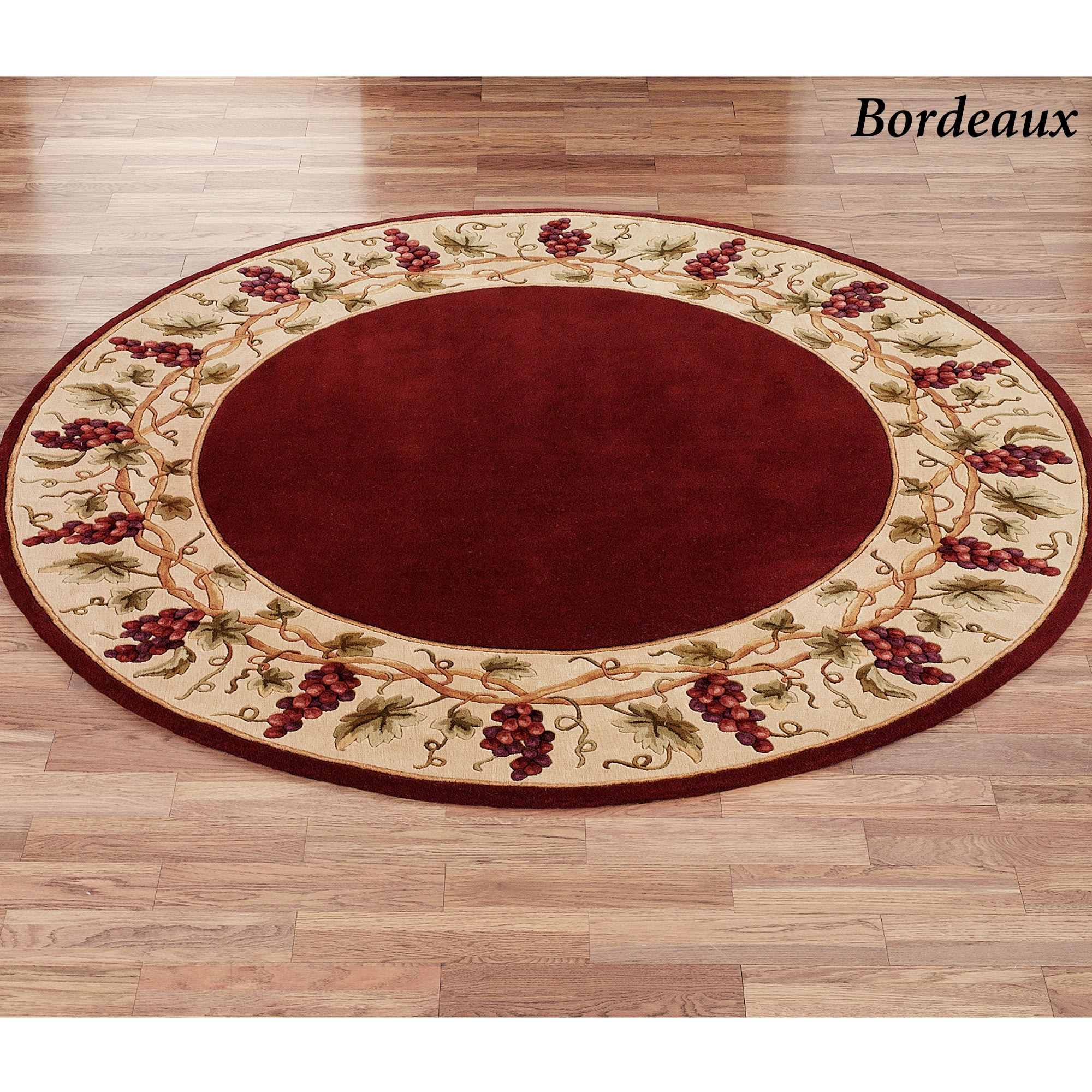 small grape design kitchen rugs.  Bordeaux Border Area Rug