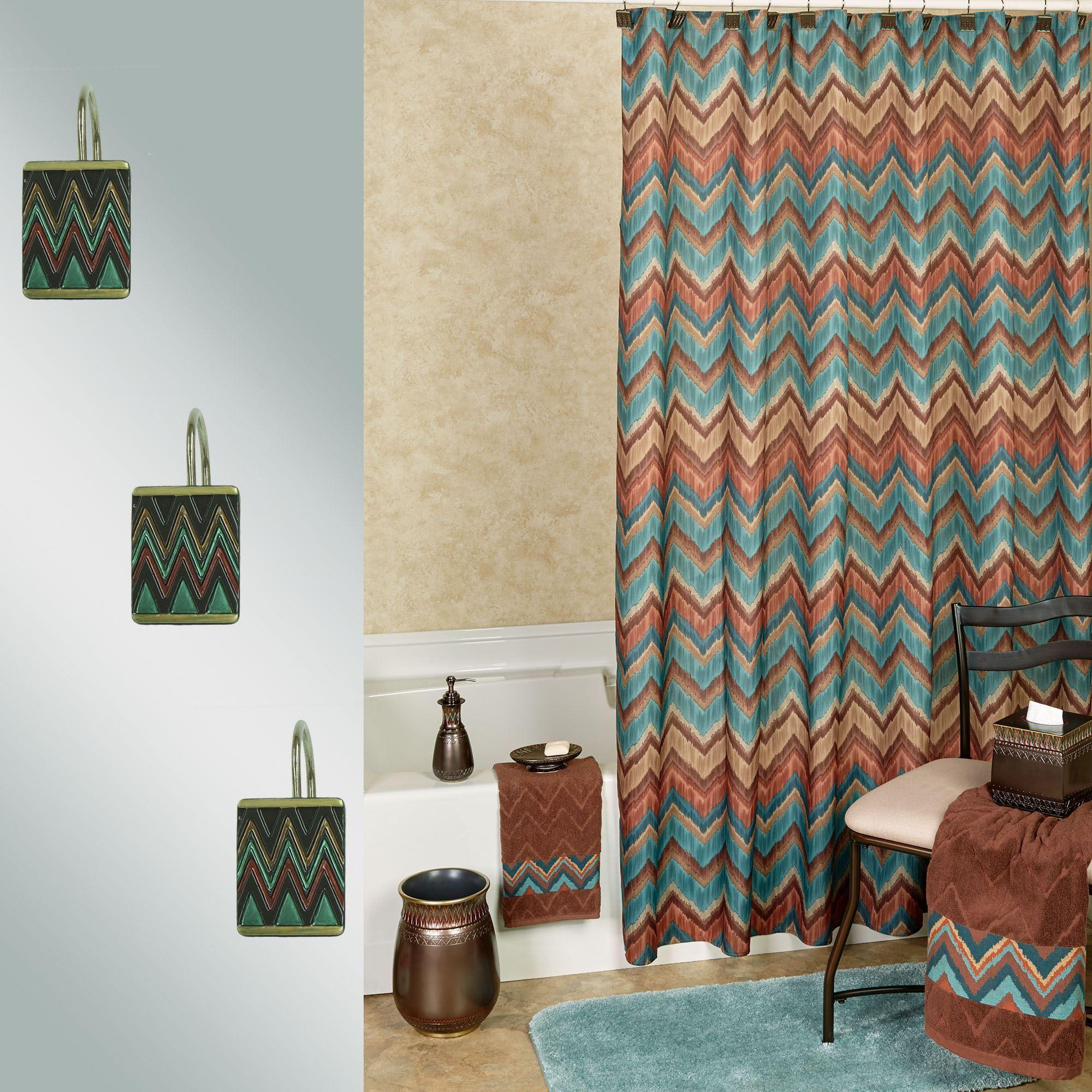 multi color chevron shower curtain. Sierra Shower Curtain Chocolate 70 x 72 Southwest Chevron