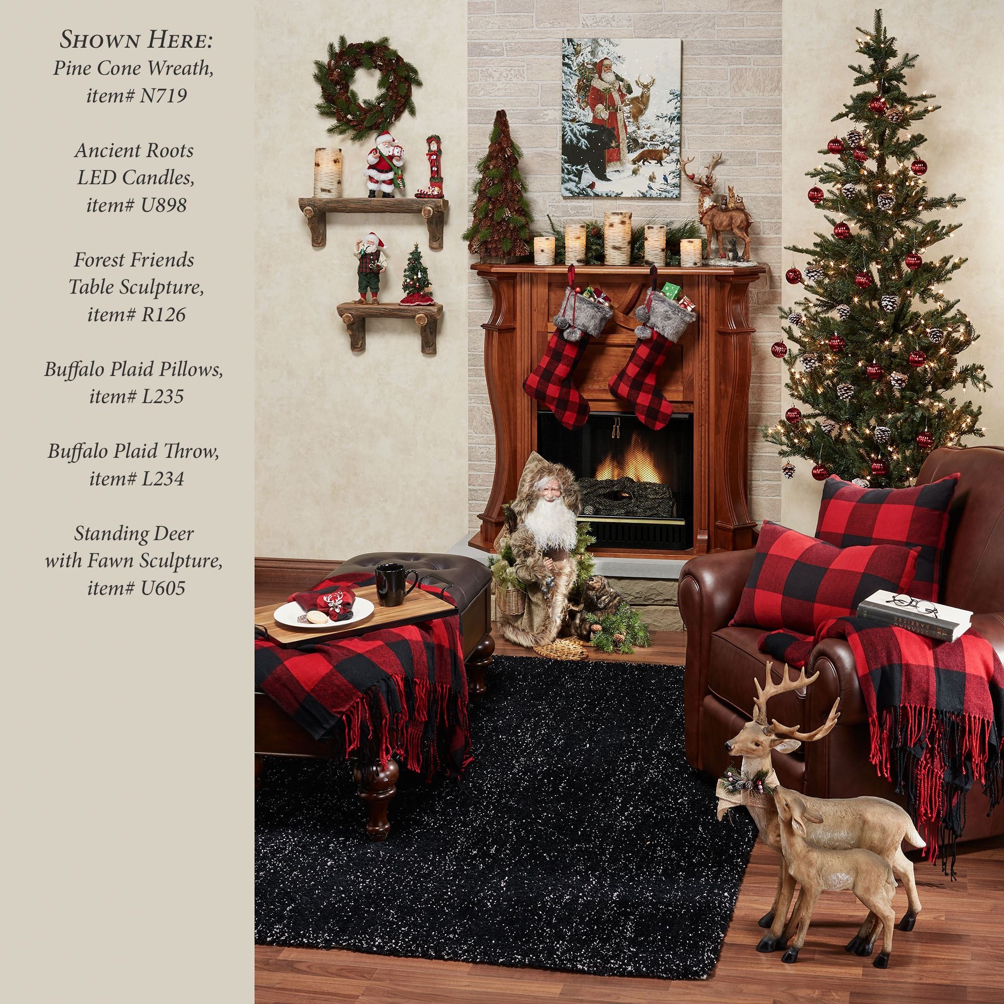 Rustic Buffalo Plaid Red And Black Throw Blanket Or Pillows