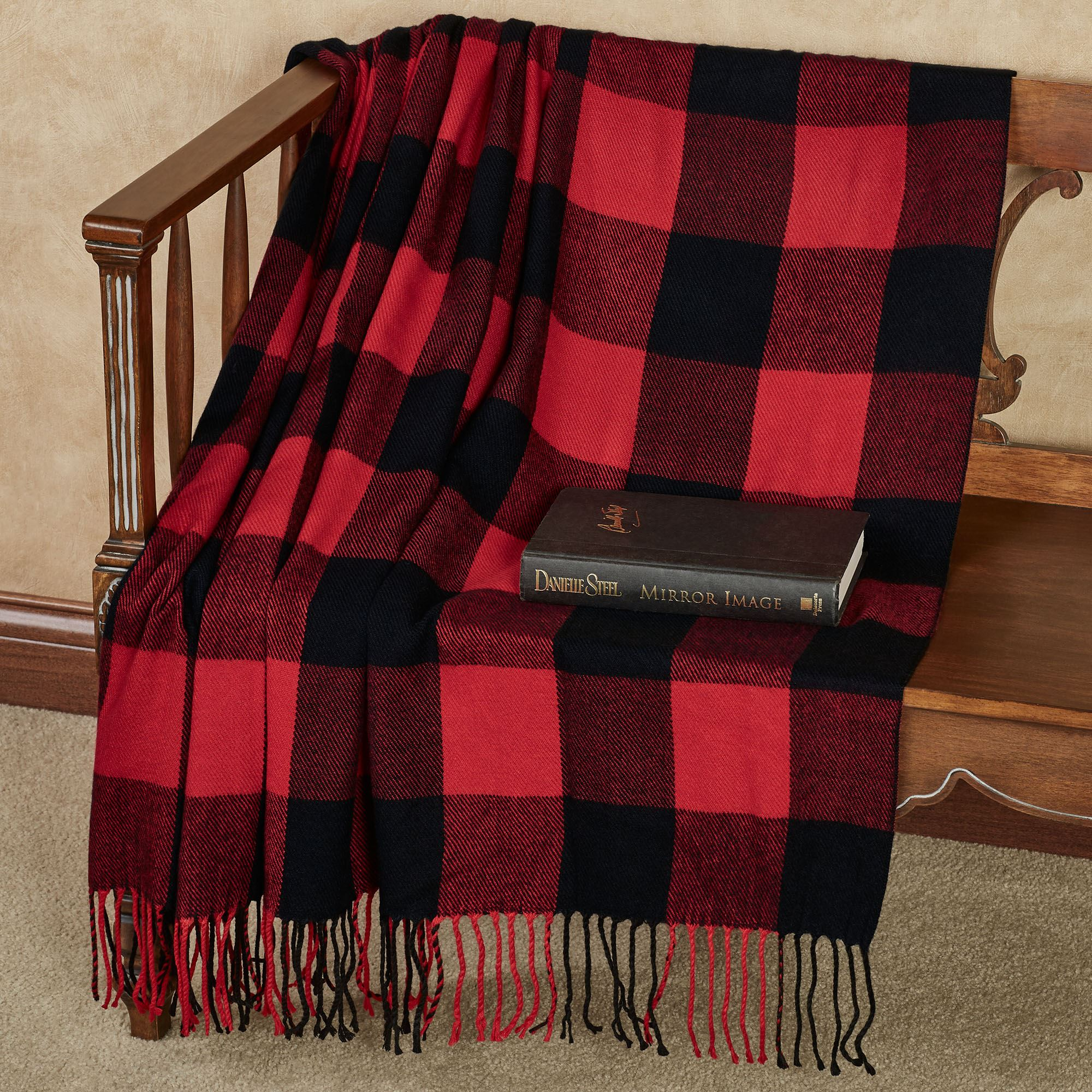 Red And Black Throw Blanket Or Pillows