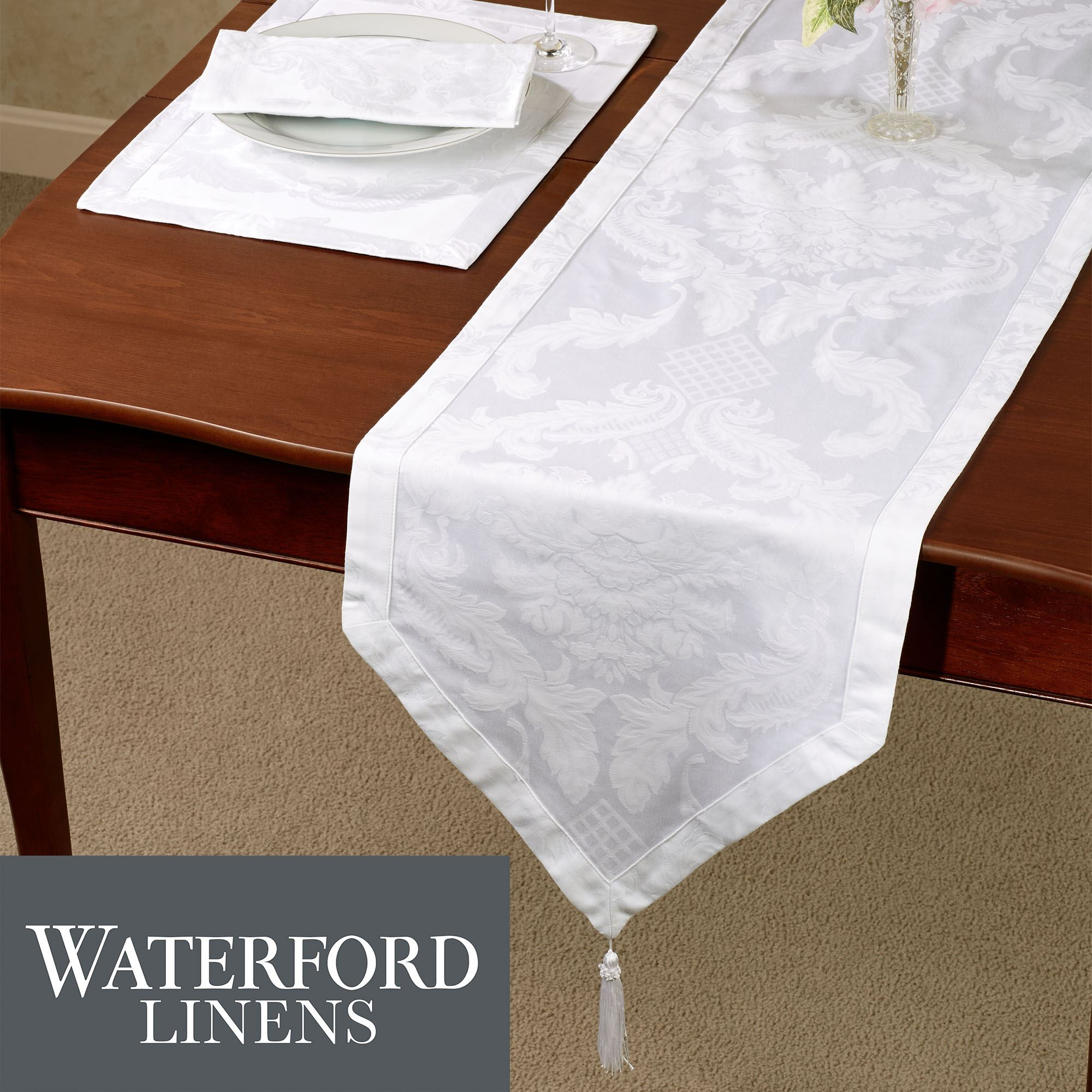 Damascus Damask Table Linens by Waterford Linens