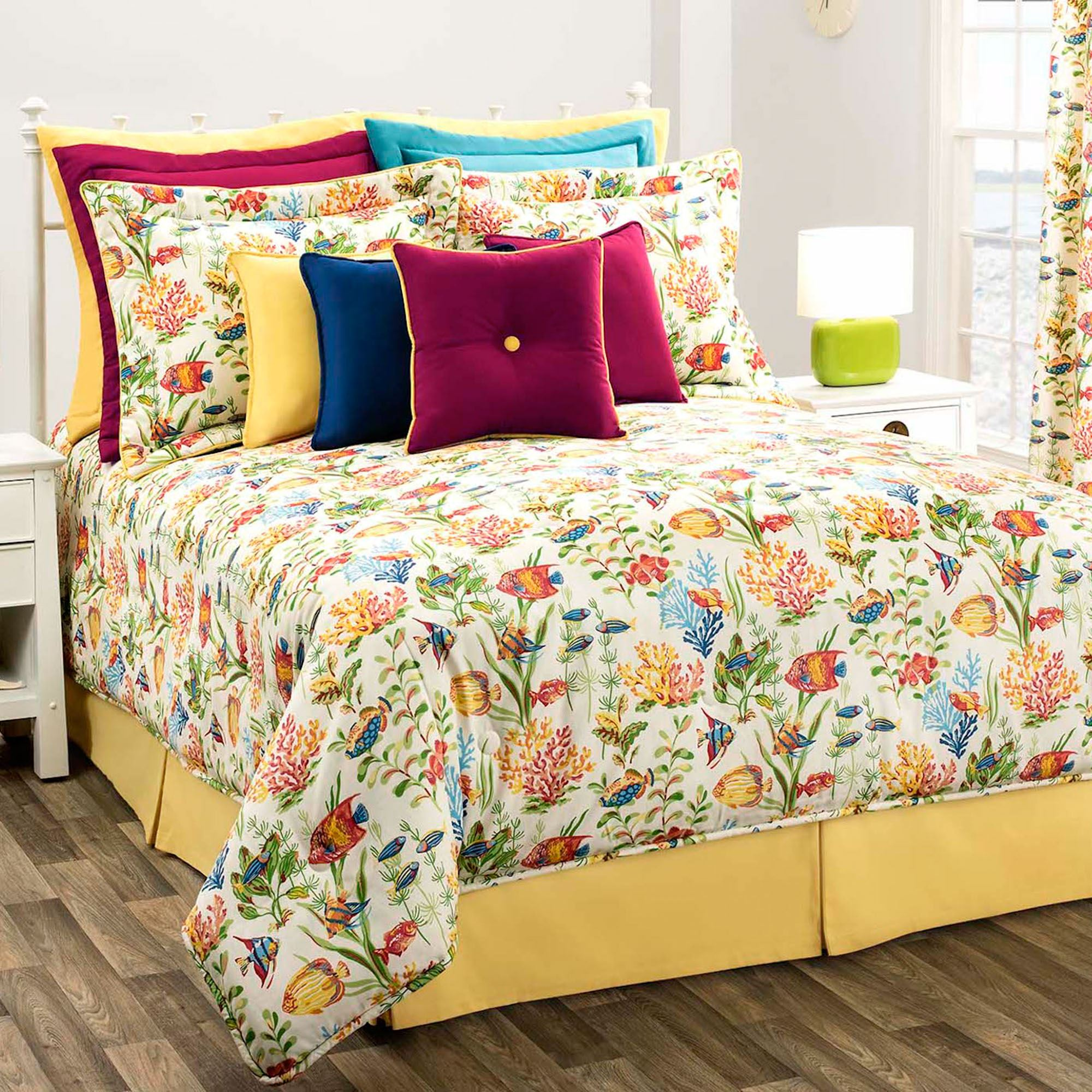 West Bay Colorful Fish Comforter Bedding