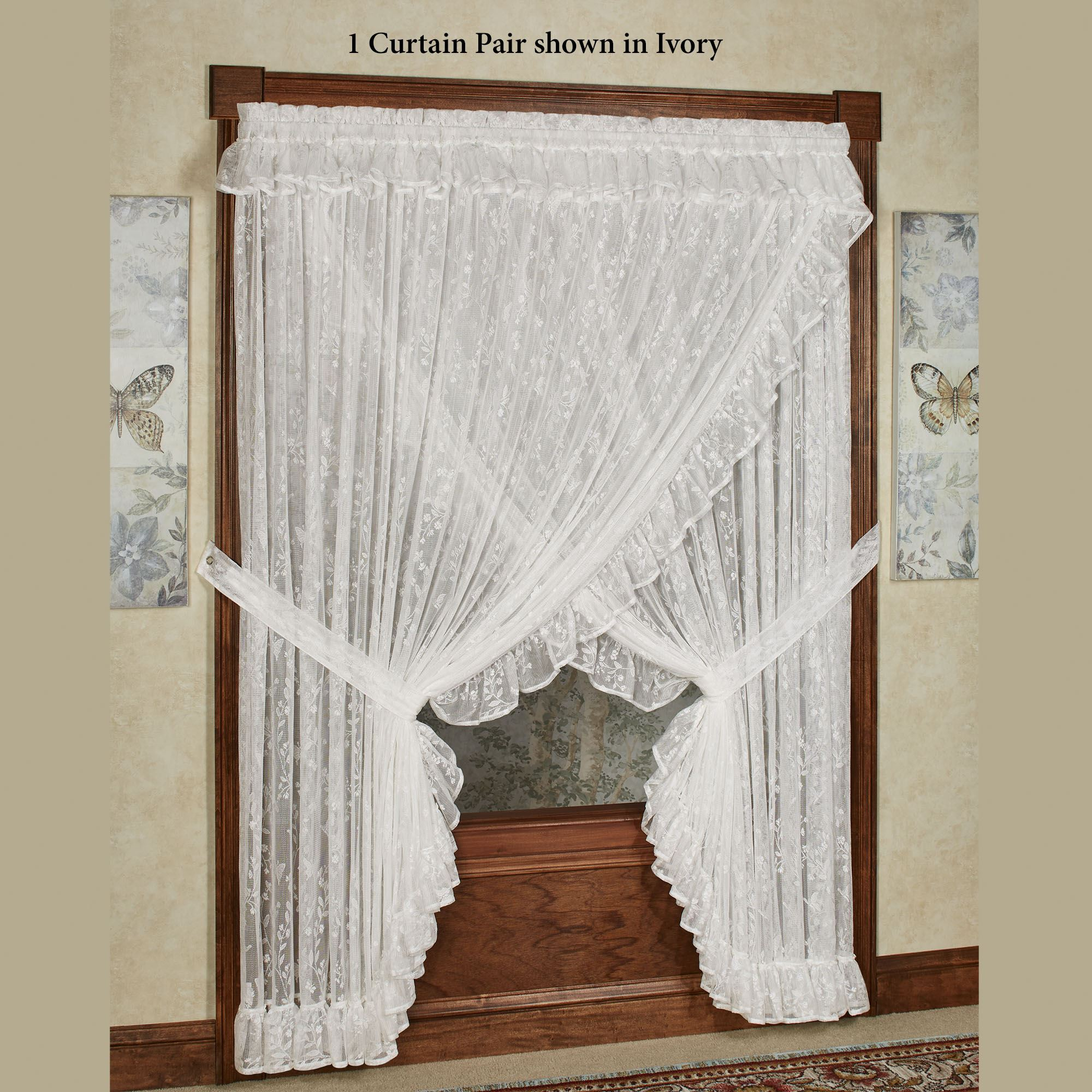 Ruffled Lace Priscilla Curtains The