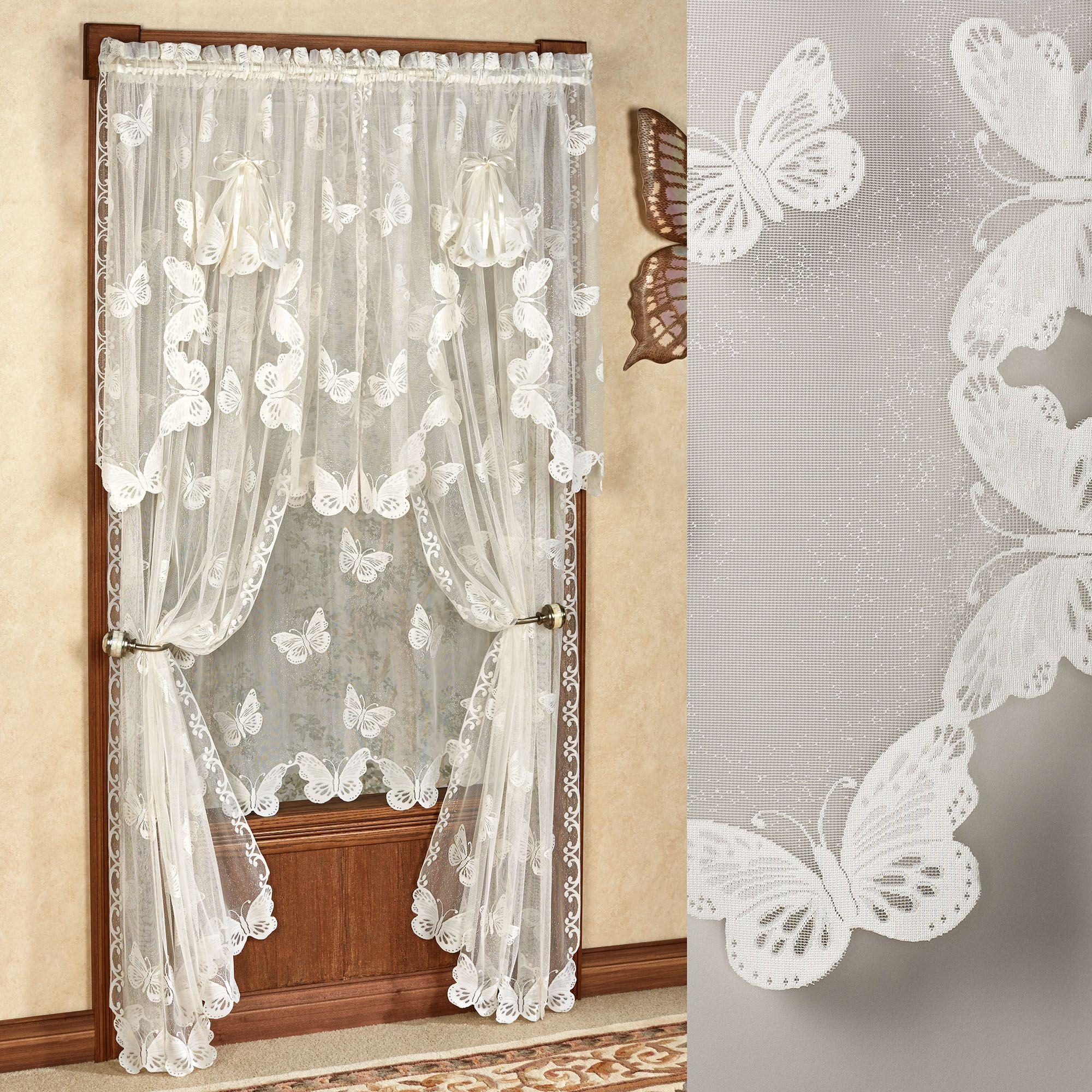 Butterflies Lace Window Treatments