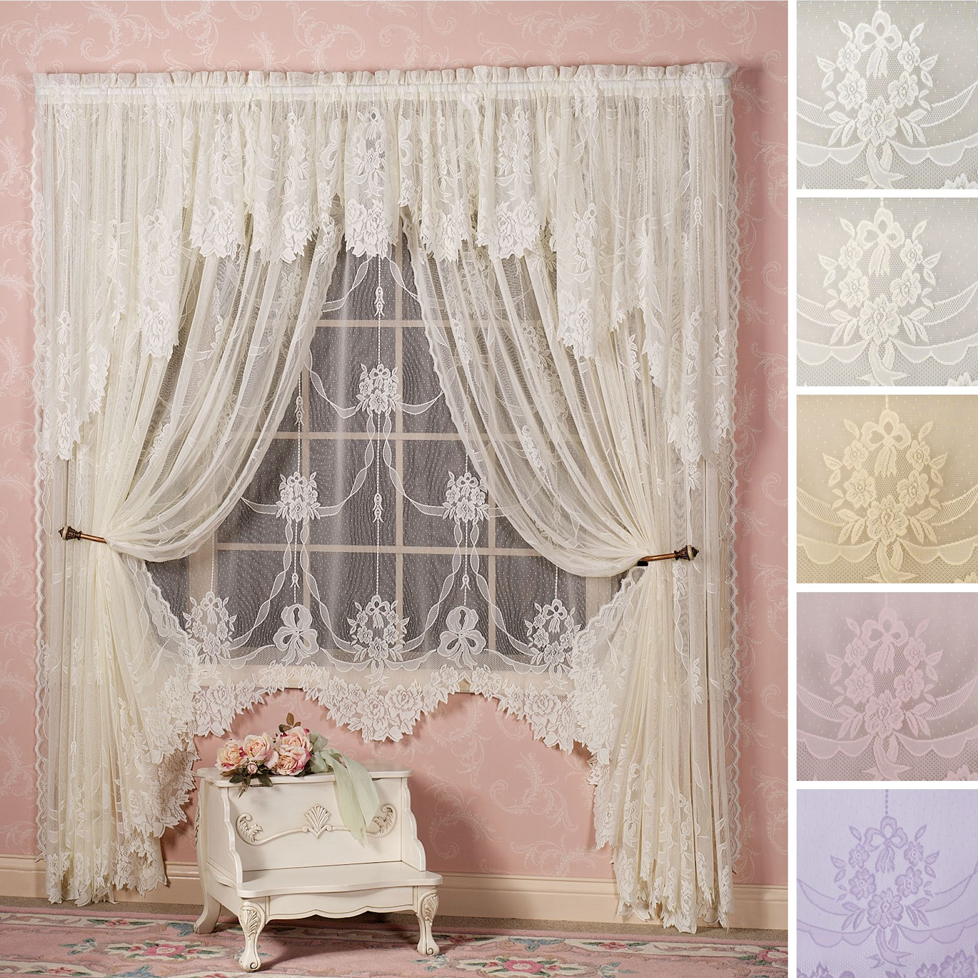 size how and rachel valance with nauticalvoryivoryvory ivory curtains lace design windows panels under of dollars attached stunning curtain x french shower photo full
